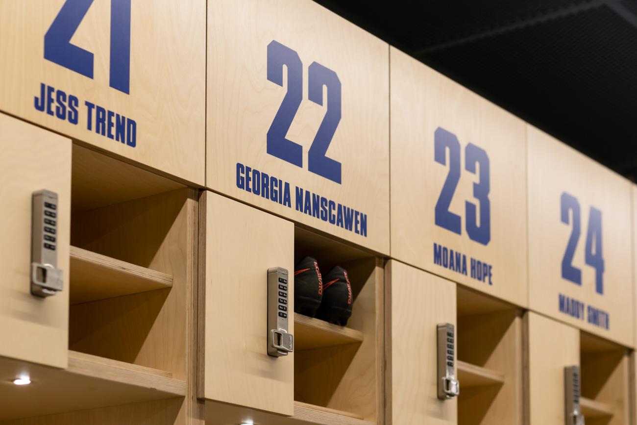 Custom locker lettering by Lockin