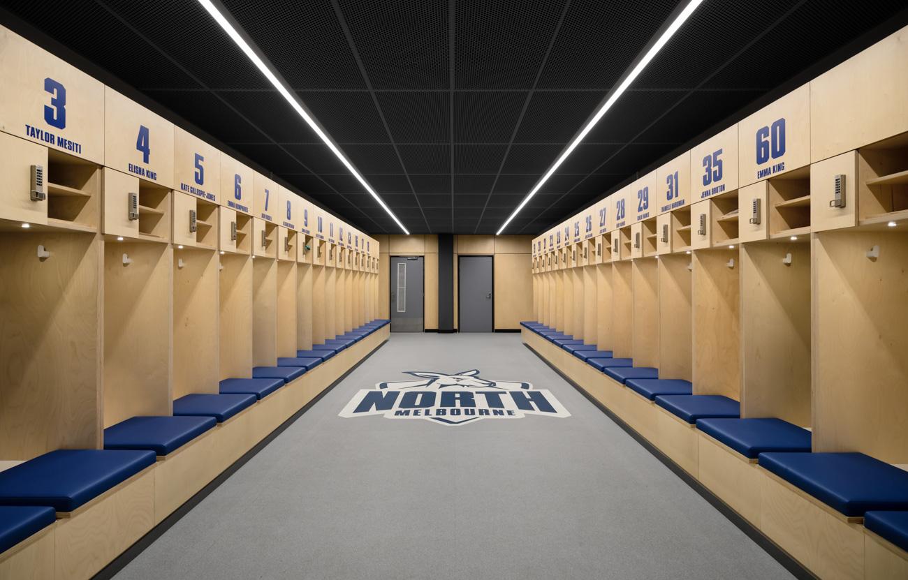 Plywood custom team lockers in Melbourne Australia