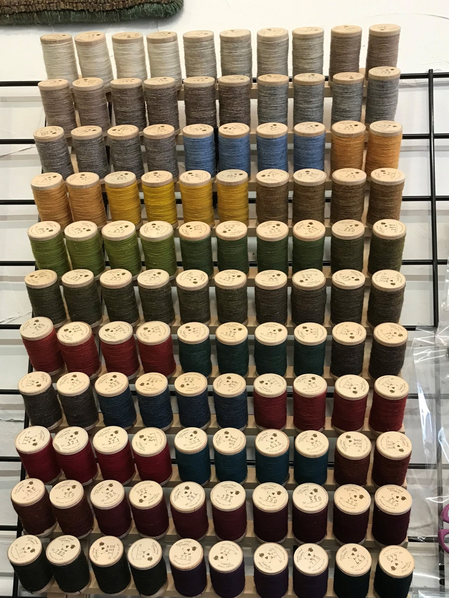 For a muted, primitive style to your punch projects-use Rustic Moire threads. - $5.25 in Studio