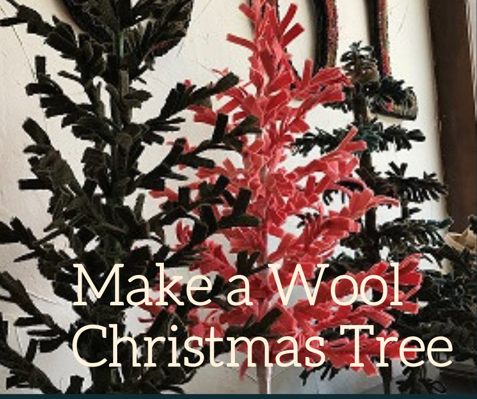 October 6th class is SOLD OUT. Being offered a second time on October 24th 1-4pm. Bring your fabric scissors and everything else is supplied. If you haven't already, register today for this 3 hour class in studio with Trish Baker.  Register here  and choose your tree wool color on the  SHOP  page.