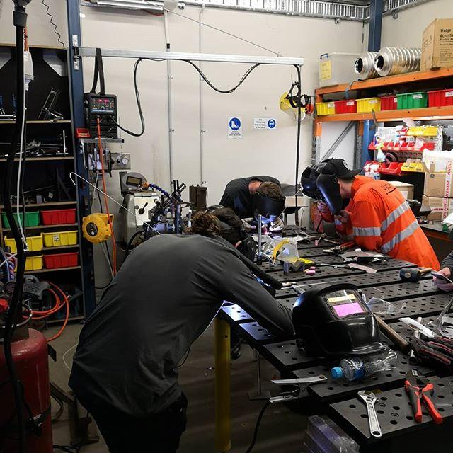 Team UMECH running a welding team development day. 🤙