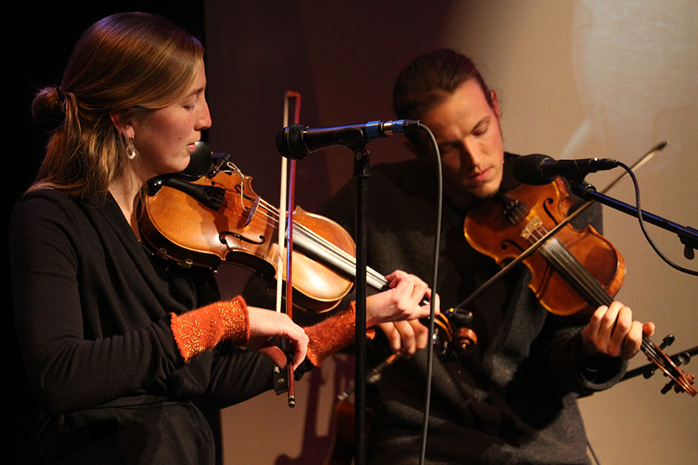 Katie Trautz & Alec Ellsworth perform during the 'Rocket Shop Live at Main Street Landing' concert series, broadcast live on radio, television, and the web.