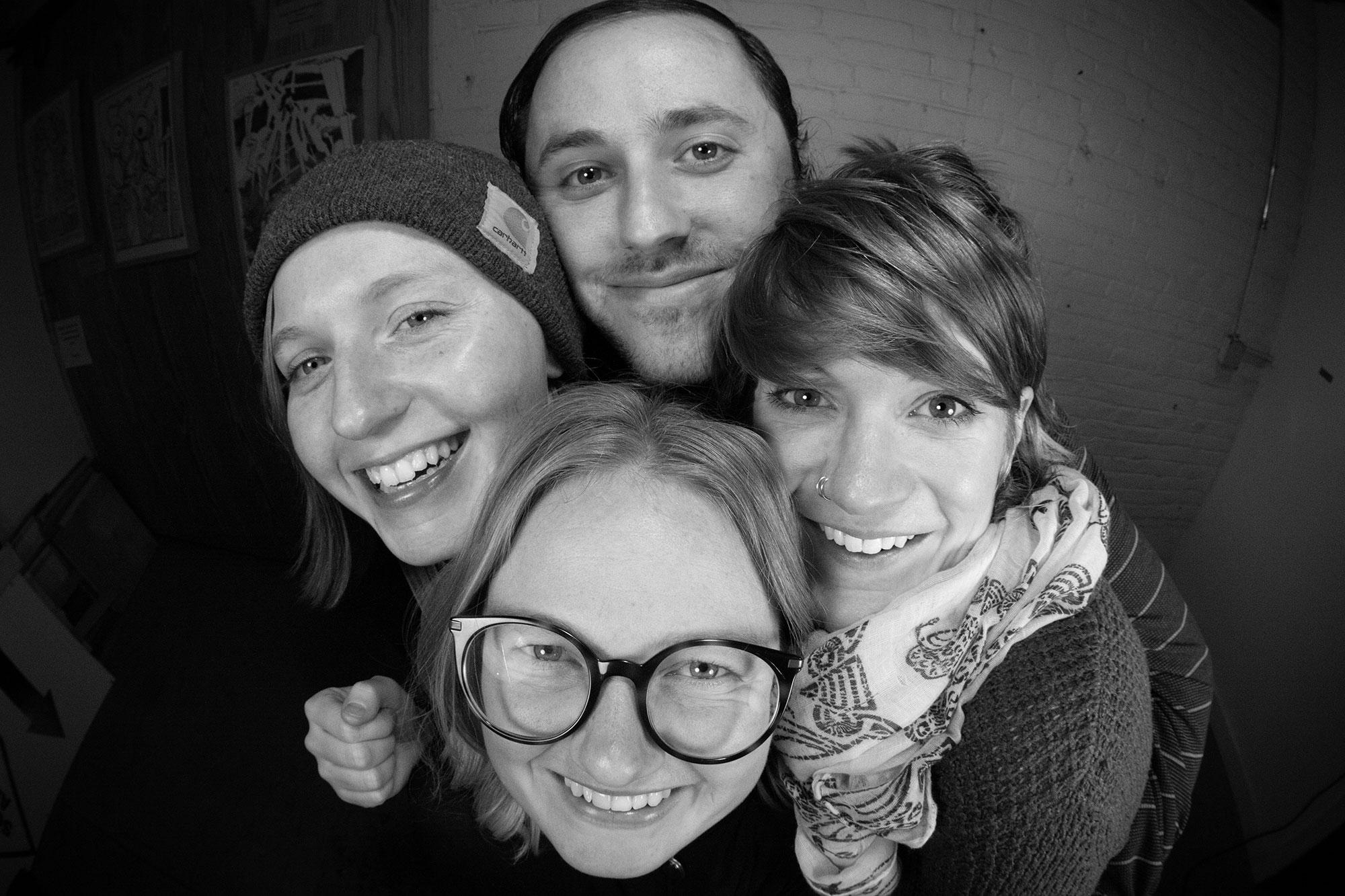 Katy, Liz, Meg, and Steve