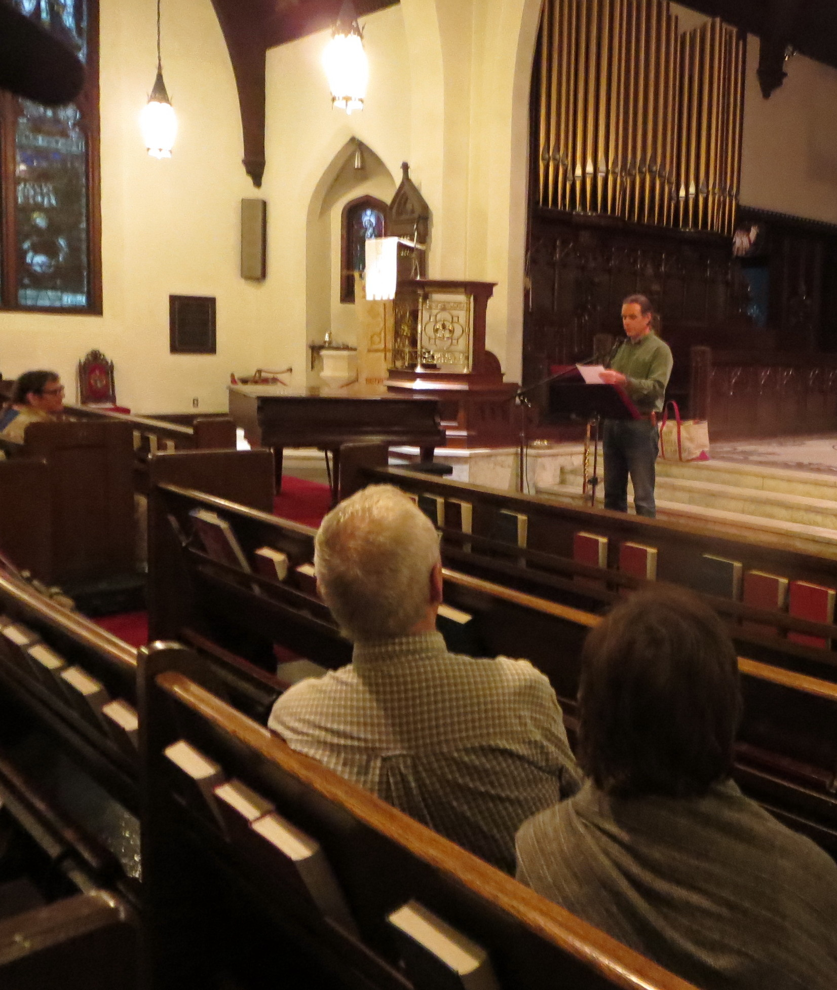 Rod Wilson's poetry reading at St. Peter's Episcopal Church in Bennington.