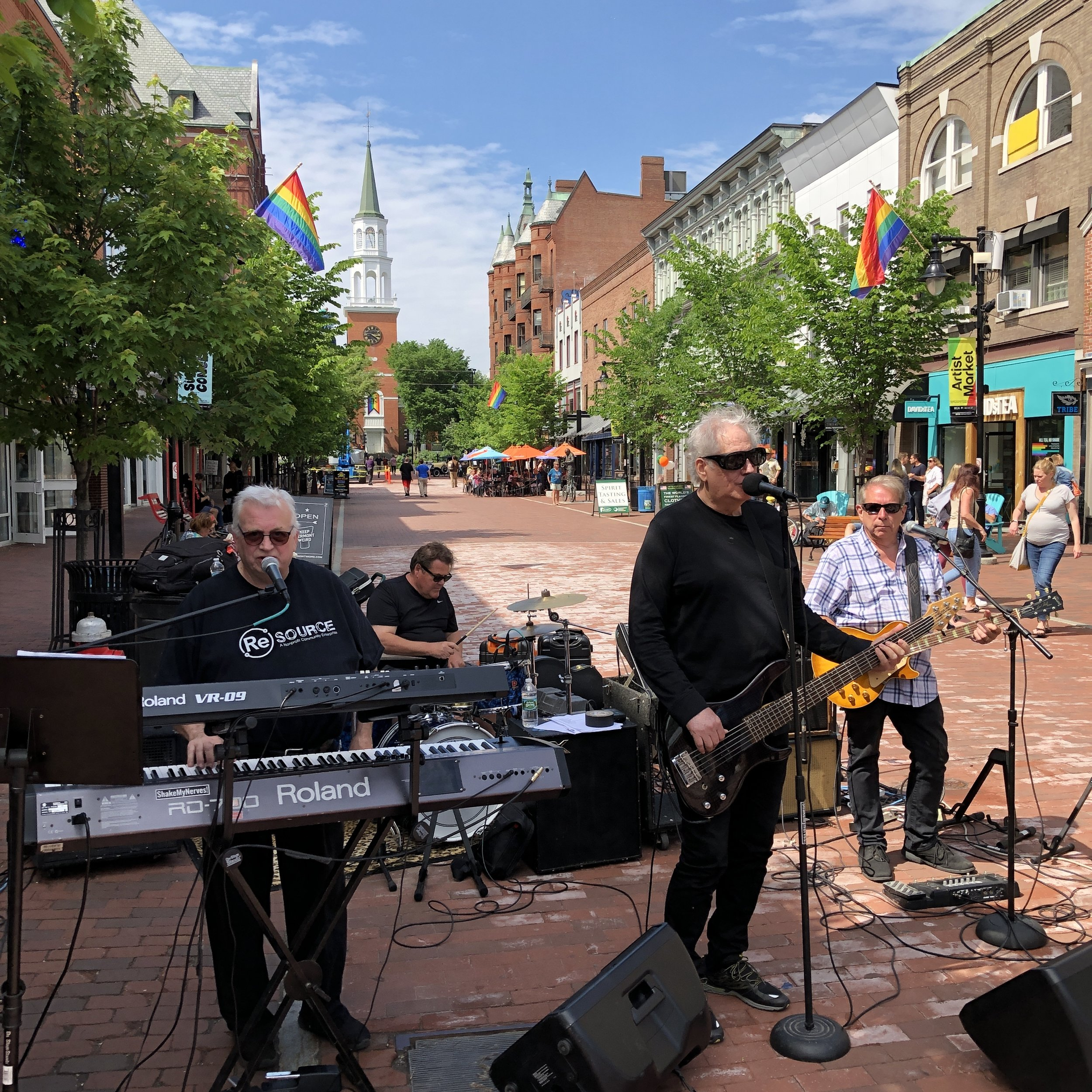 Mr. French rockin' out on Church Street in Burlington.