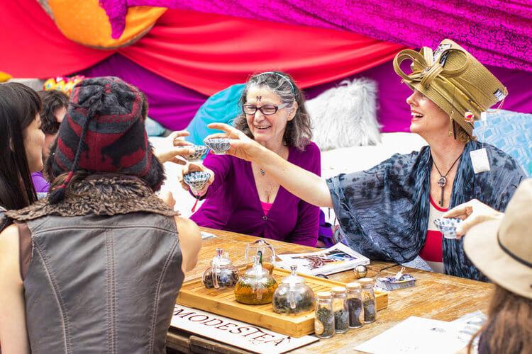 Alice Oracle Tea Party Women's Retreat Photography
