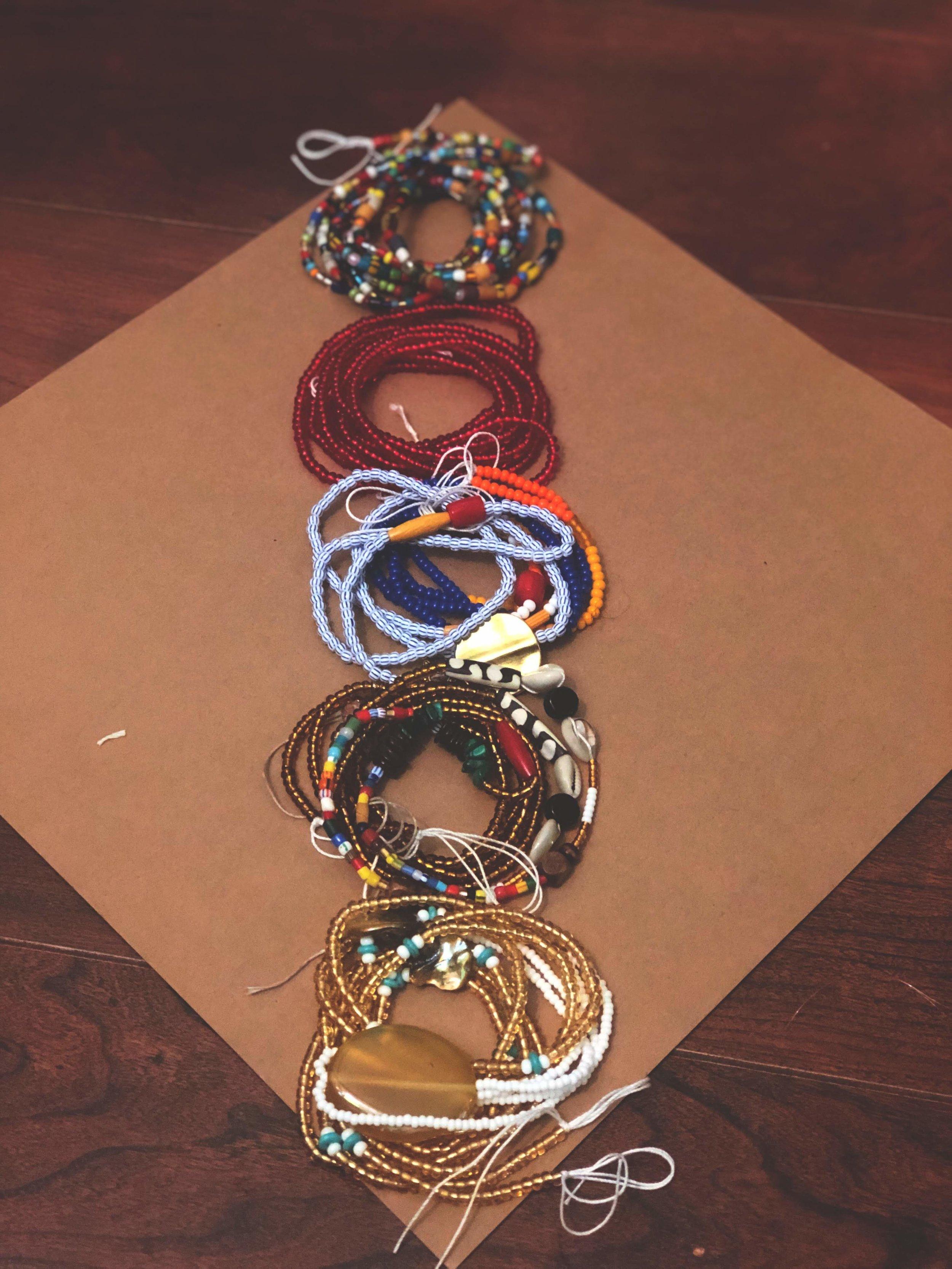 Custom waist bead order.