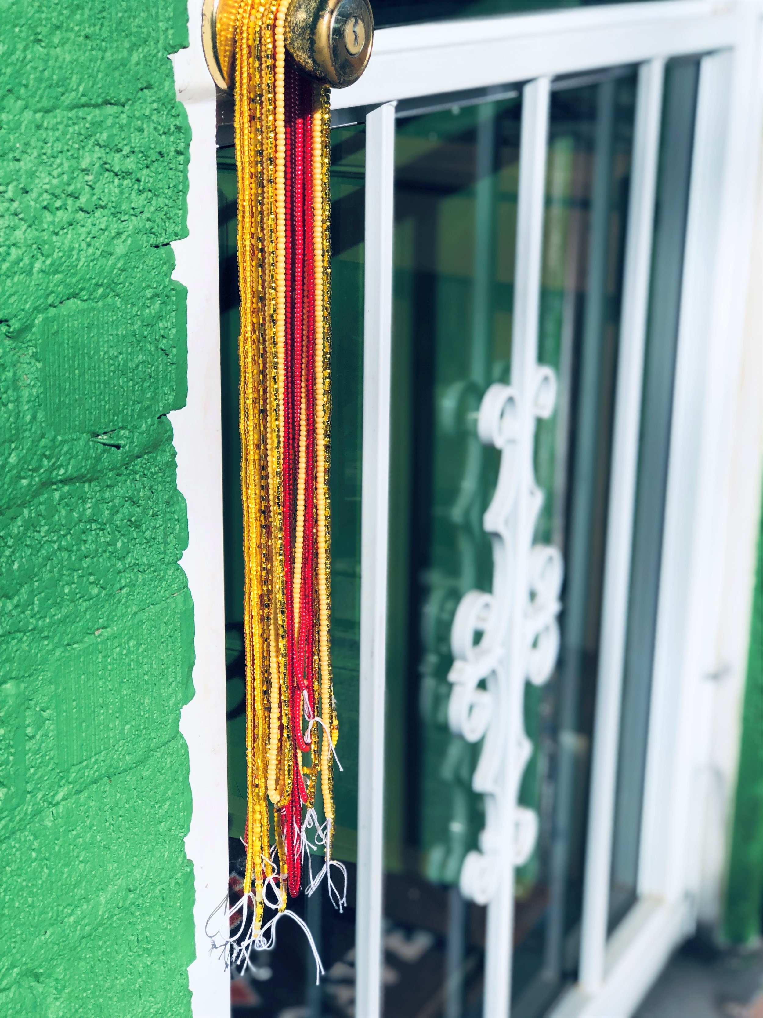 Traditional waist beads.