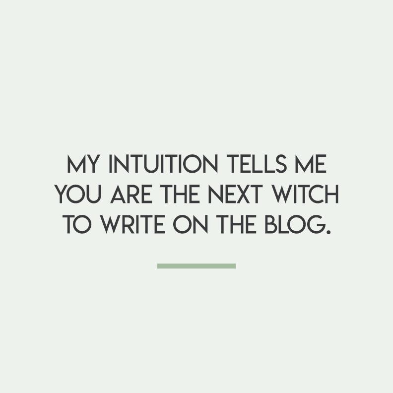 Write on the blog -
