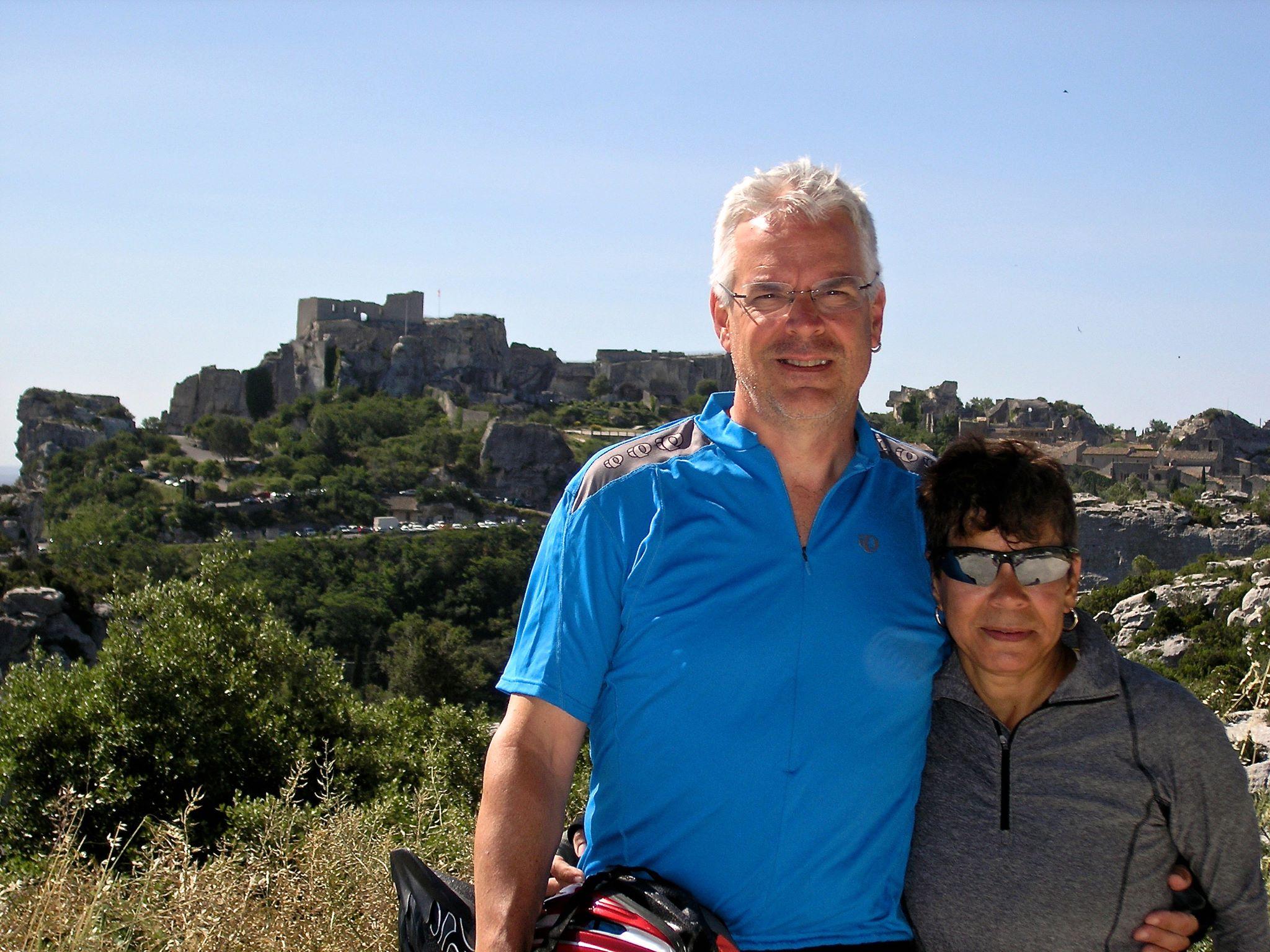 Bob and wife, Maria, in Les Baux de Provence