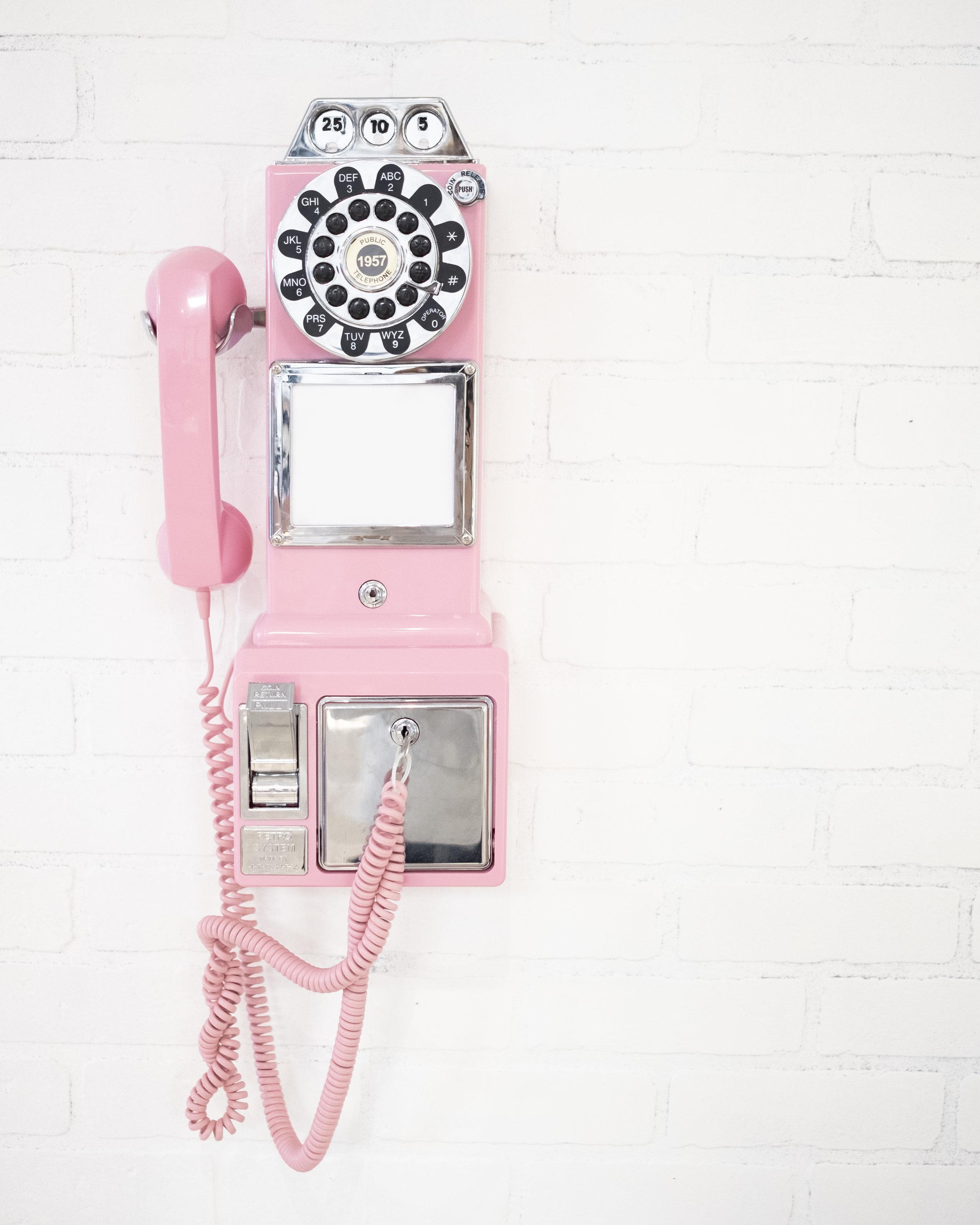 pink phone stock