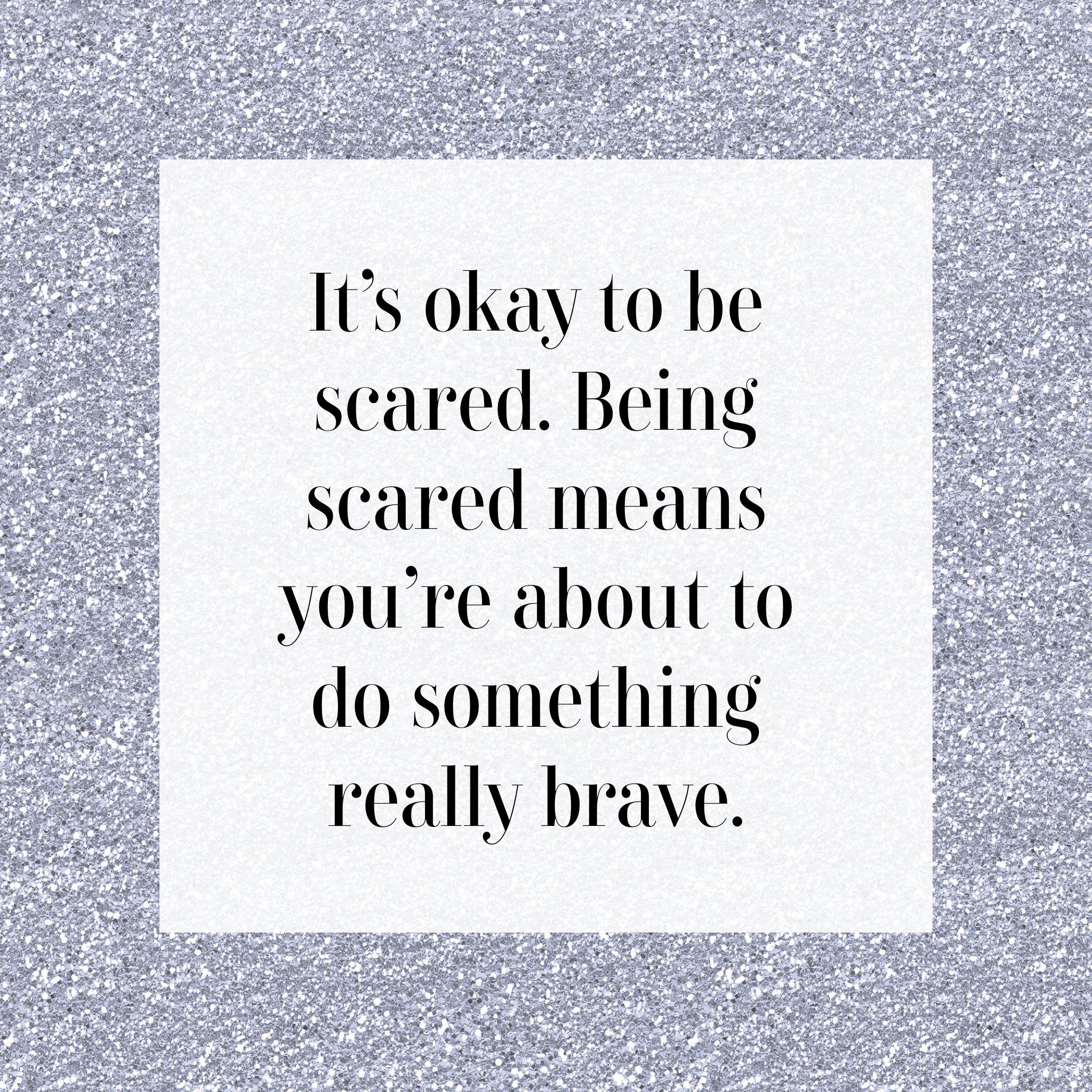 be scared instagram graphic