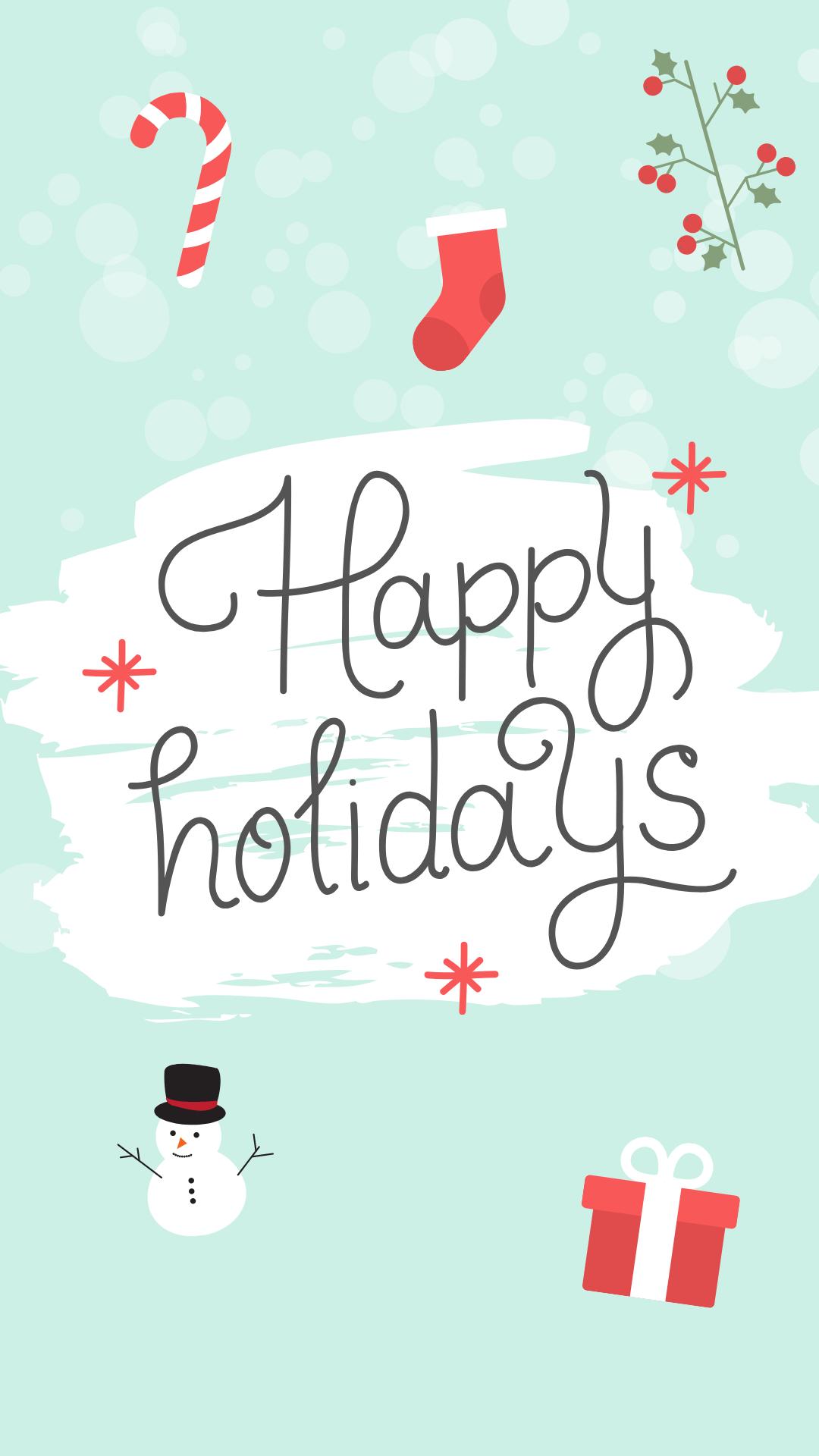 happy holidays instagram story