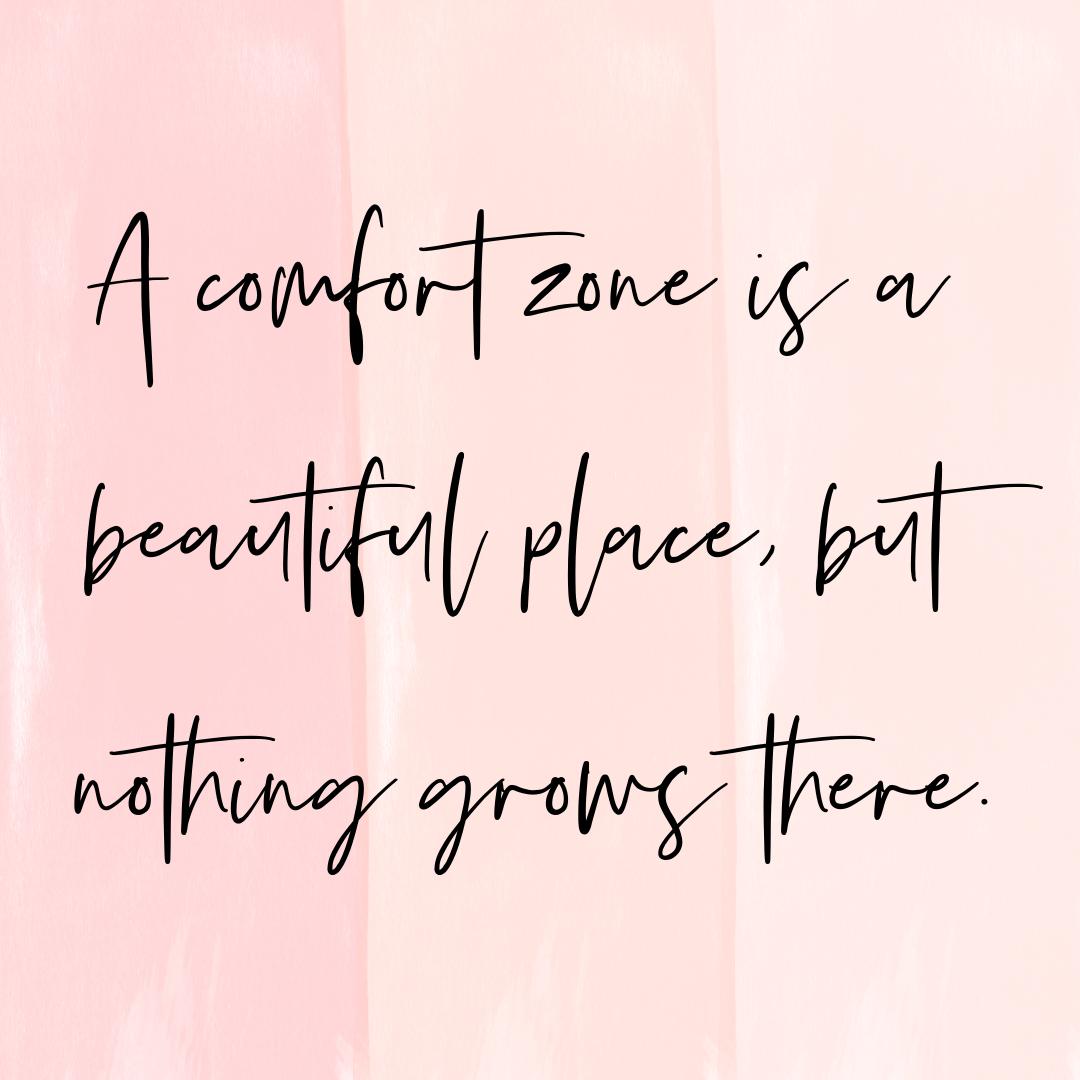comfort zone instagram post
