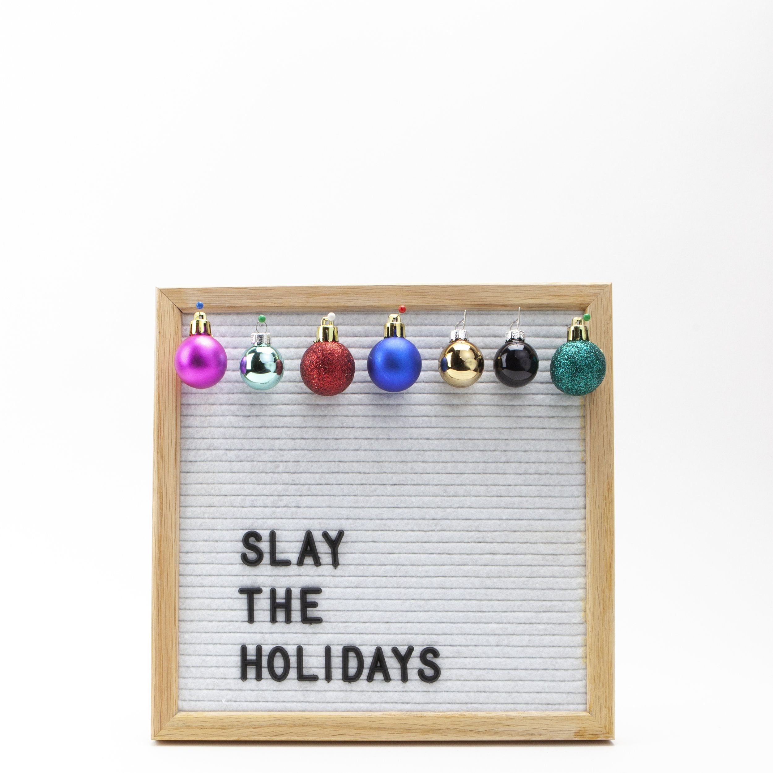slay the holidays ornaments instagram post
