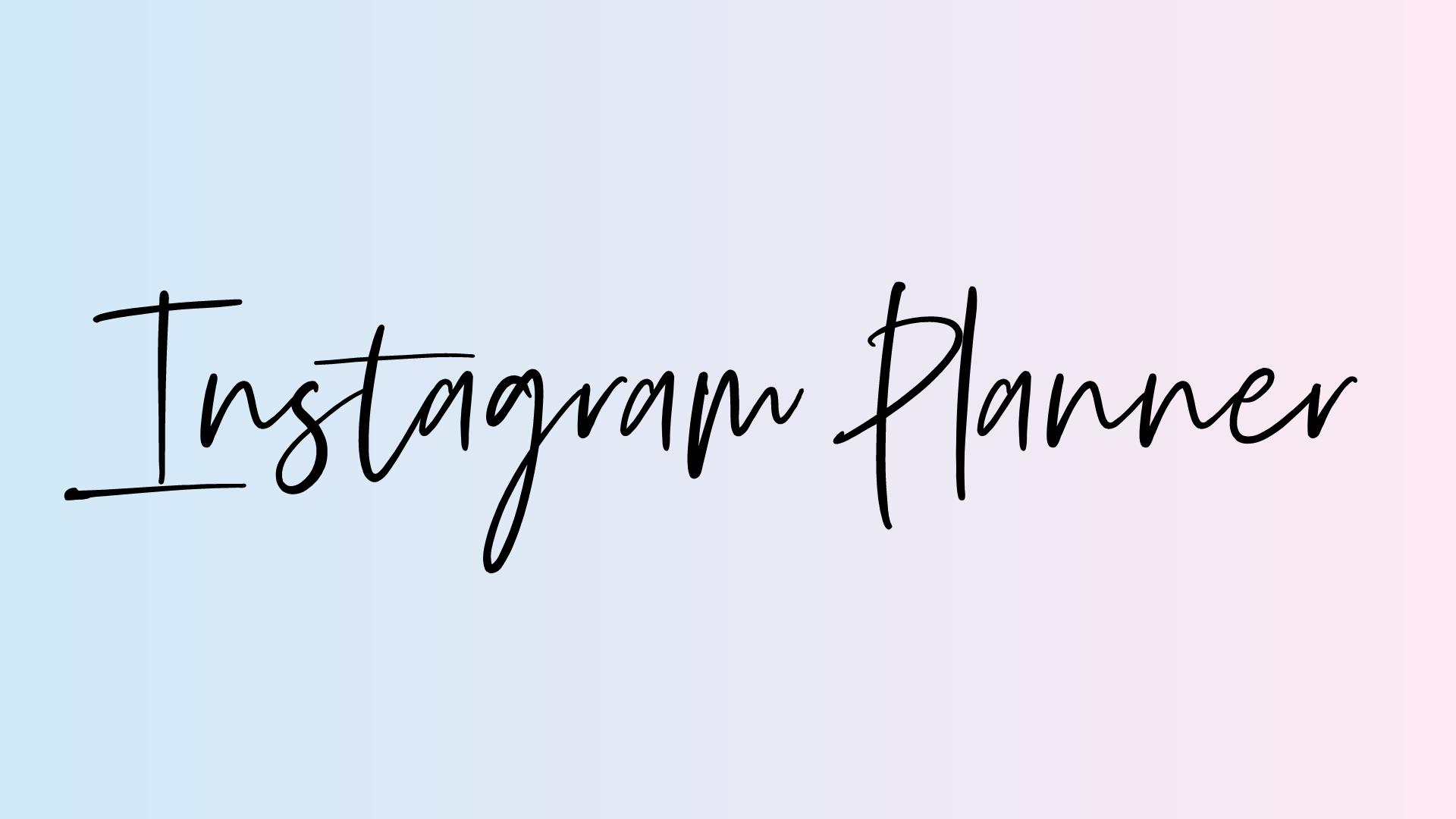 instagram weekly planner