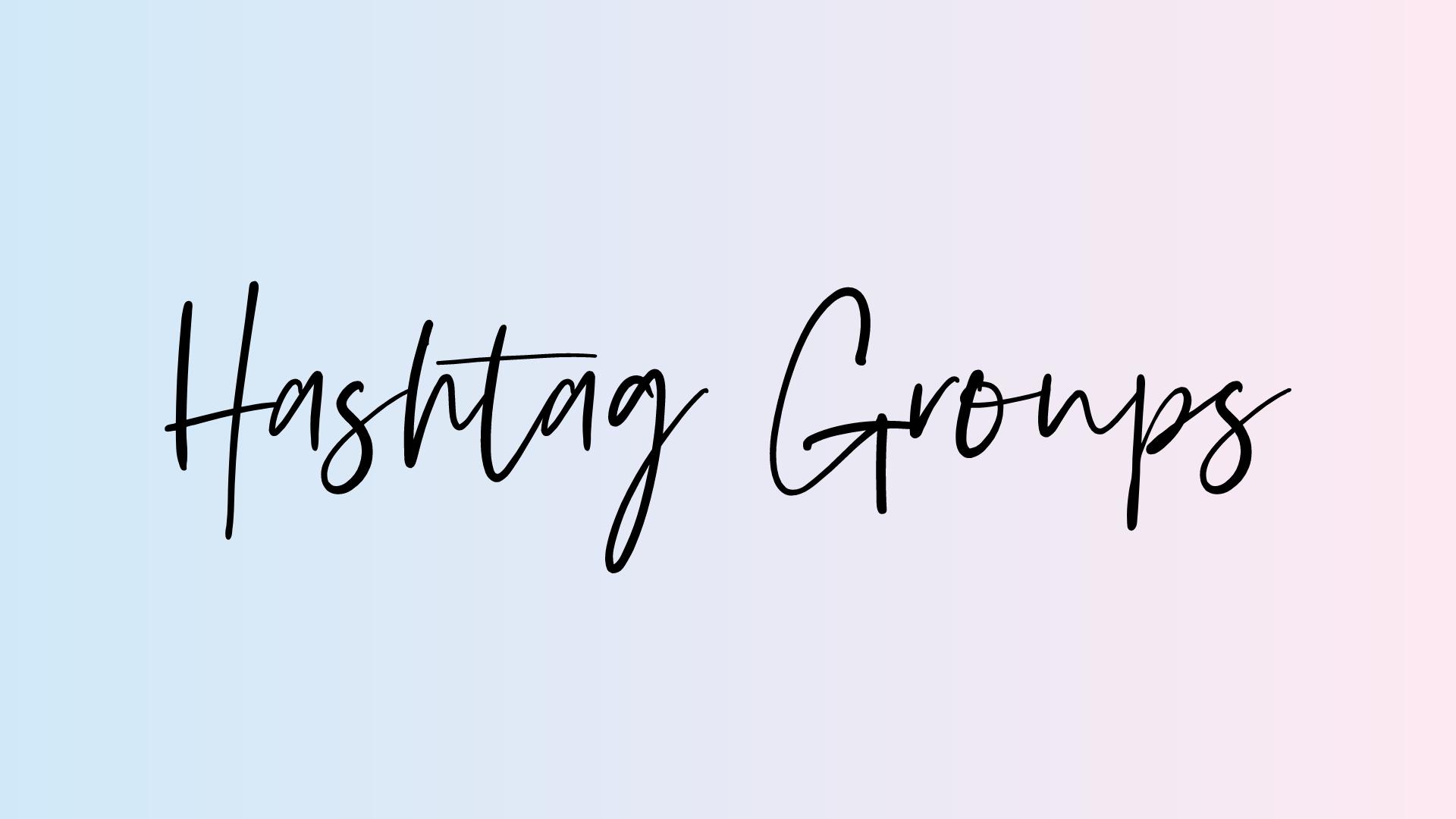hashtag groups printable
