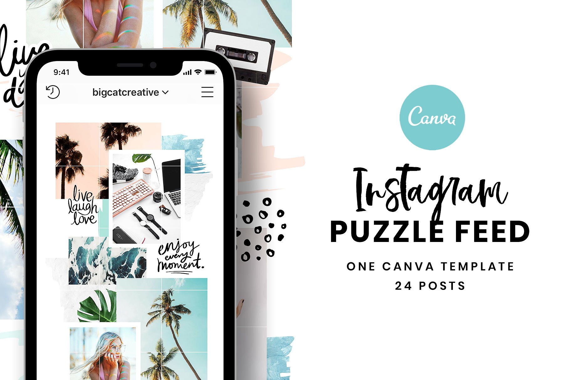 Canva Instagram Puzzle Feed