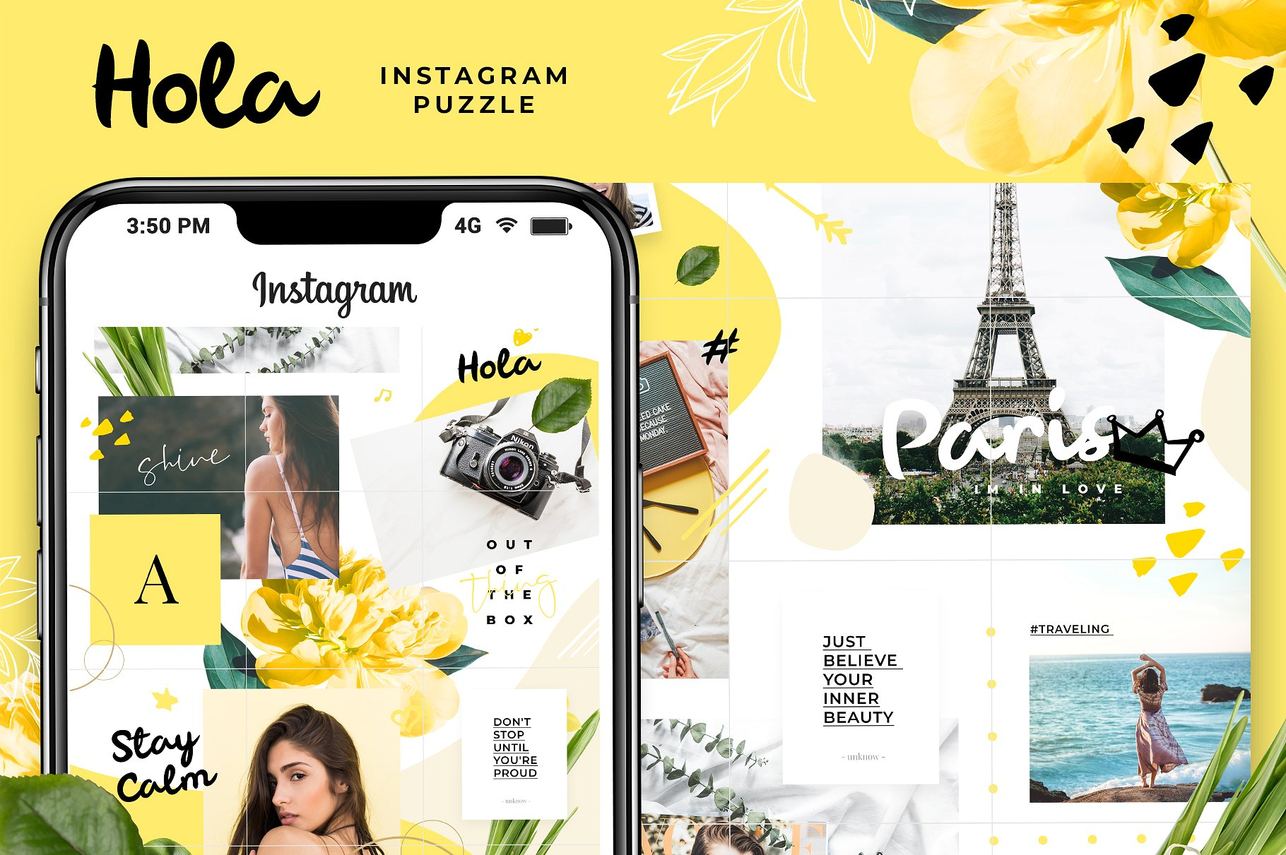 instagram photoshop puzzle feed template