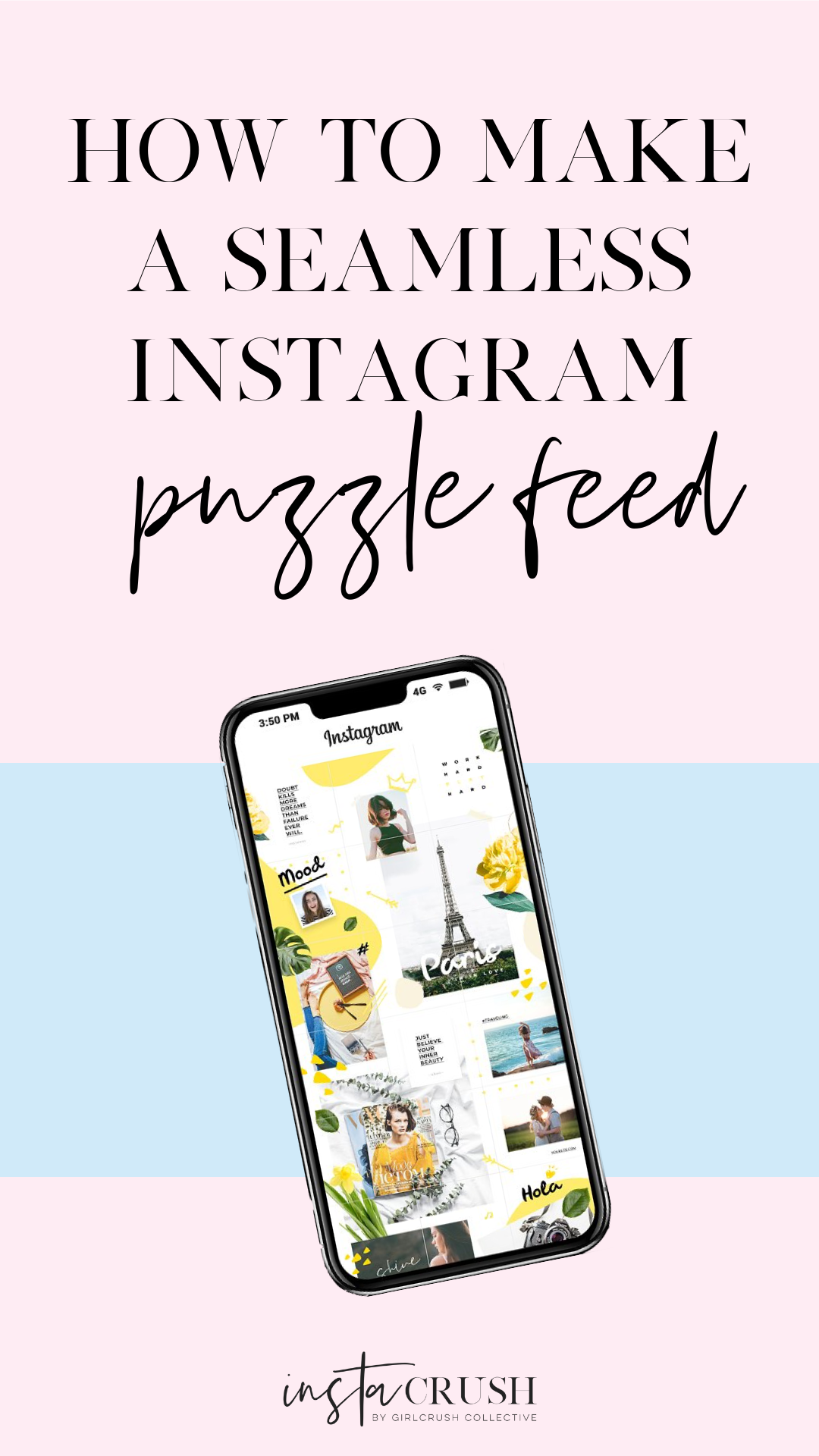 how to make a seamless instagram puzzle feed