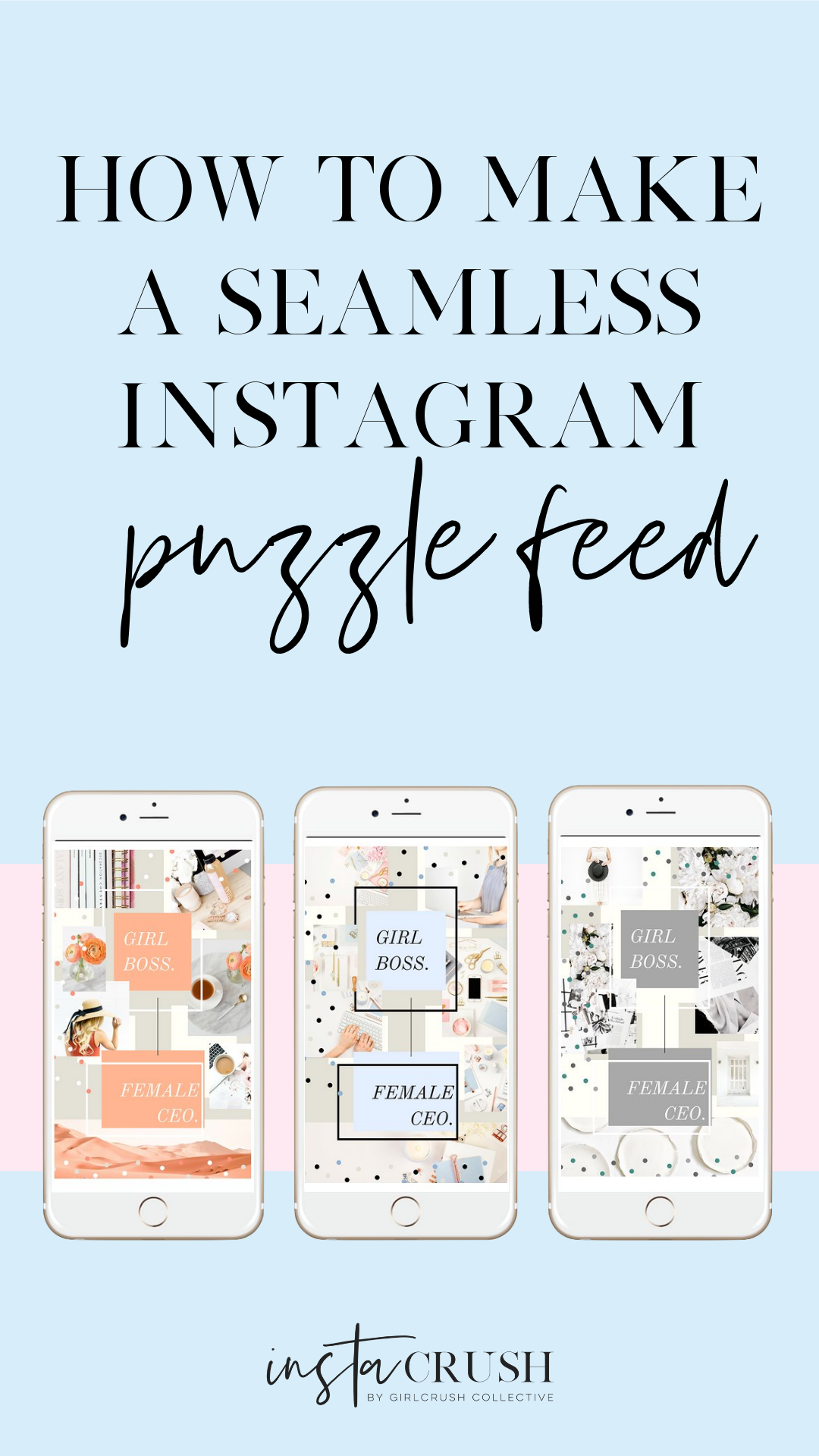 how to create a seamless instagram puzzle feed