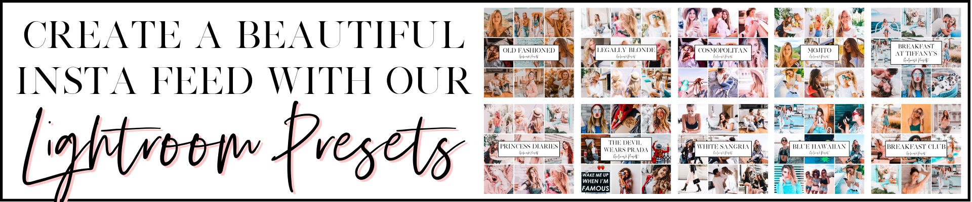 create a beautiful instagram feed with our girlcrush lightroom presets
