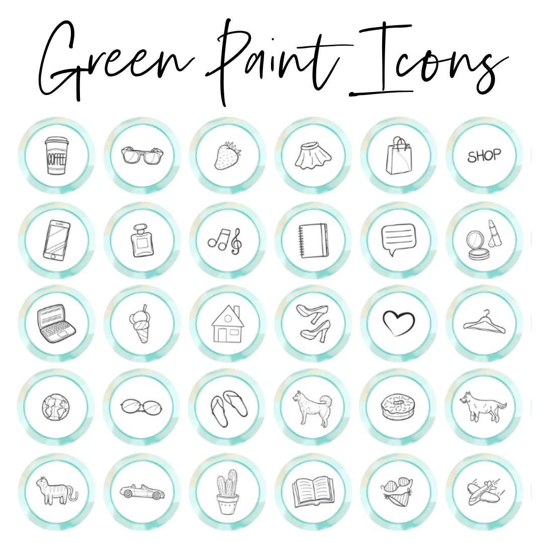 green paint icons