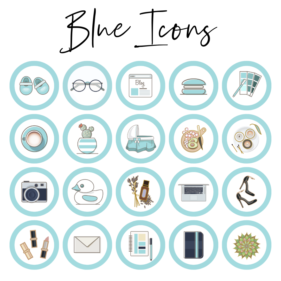 blue highlight icons