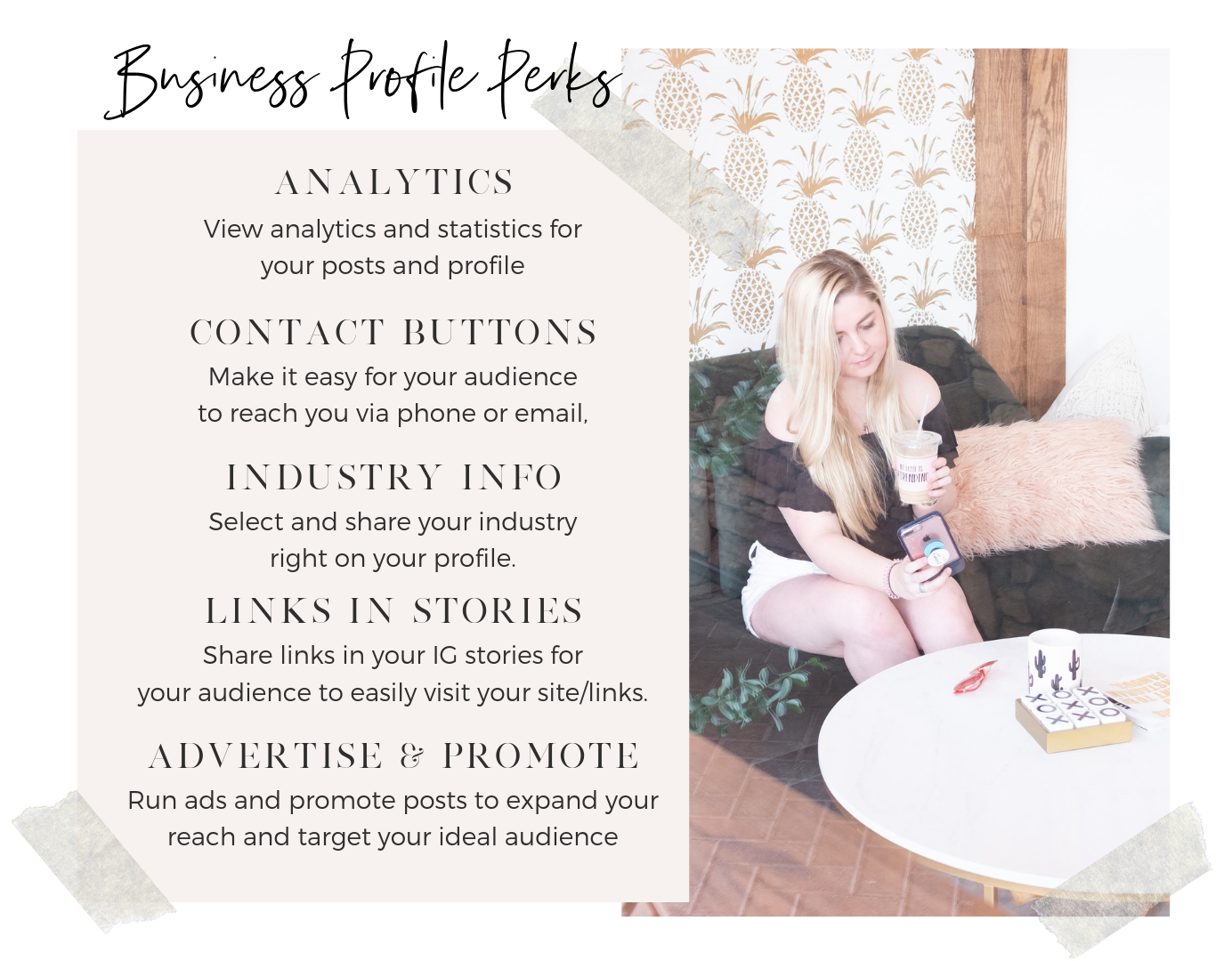 instagram business profile perks