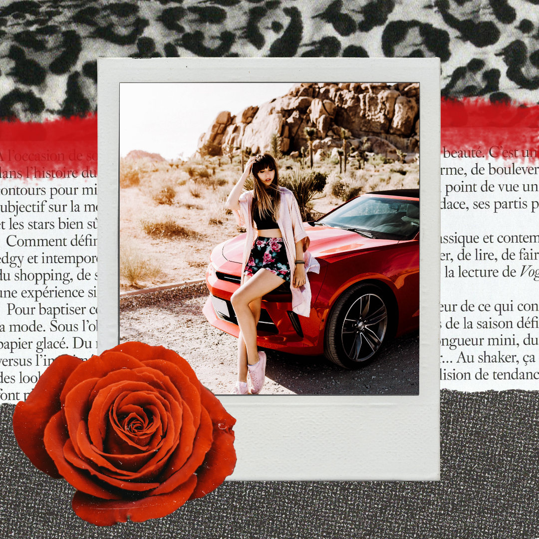 Black Red Rose Collage Template - InstaCrush