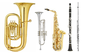Brass & Woodwinds Lessons - Learn any brass or woodwind instrument! Our teachers are able to teach all styles of band instruments! Whether you want to brush up on an old skill, need help with school band, or just want to learn for fun… we have you covered!