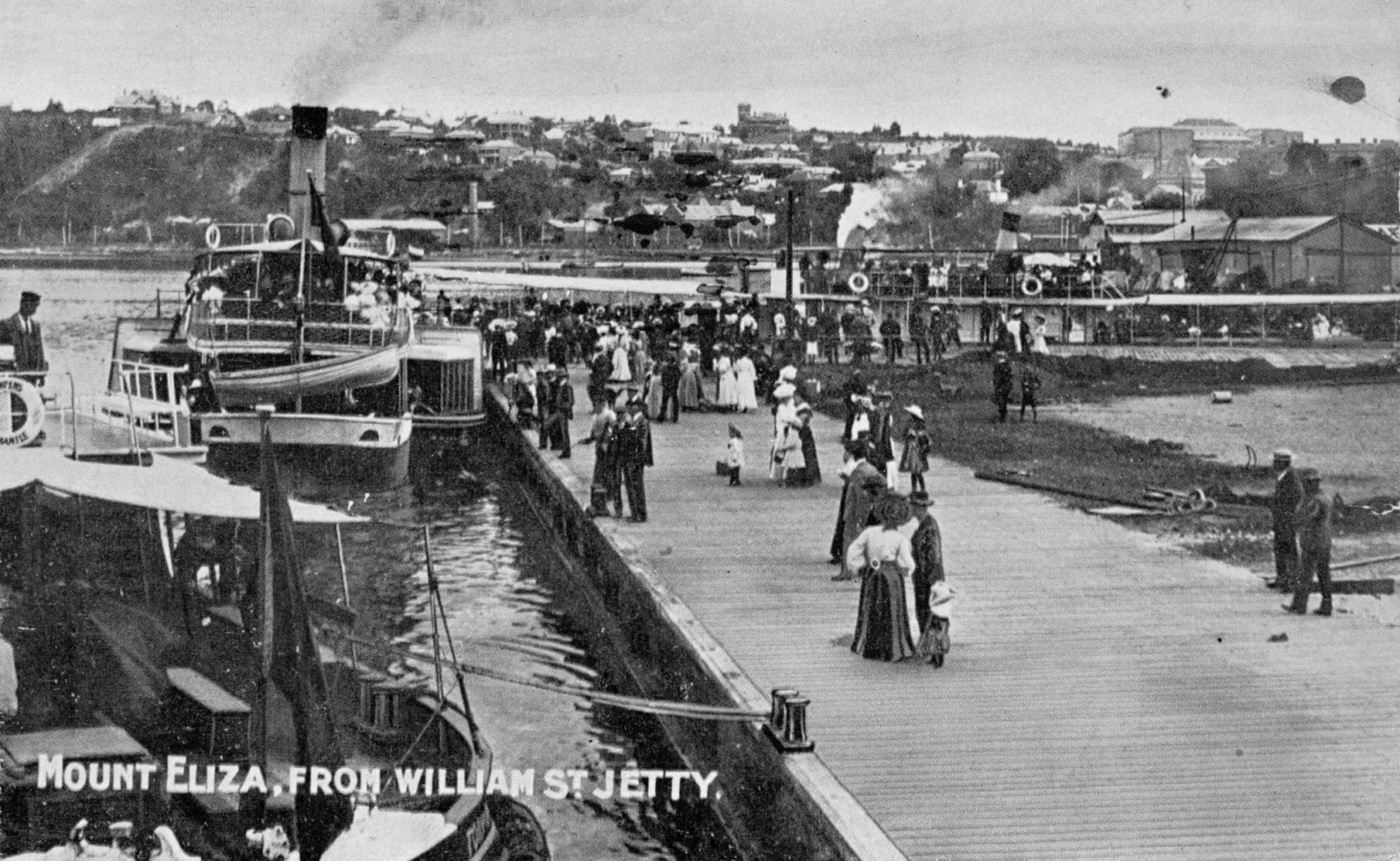 Mount Eliza from William Street jetty (looking West) Courtesy of the State Library of Western Australia (066606PD)