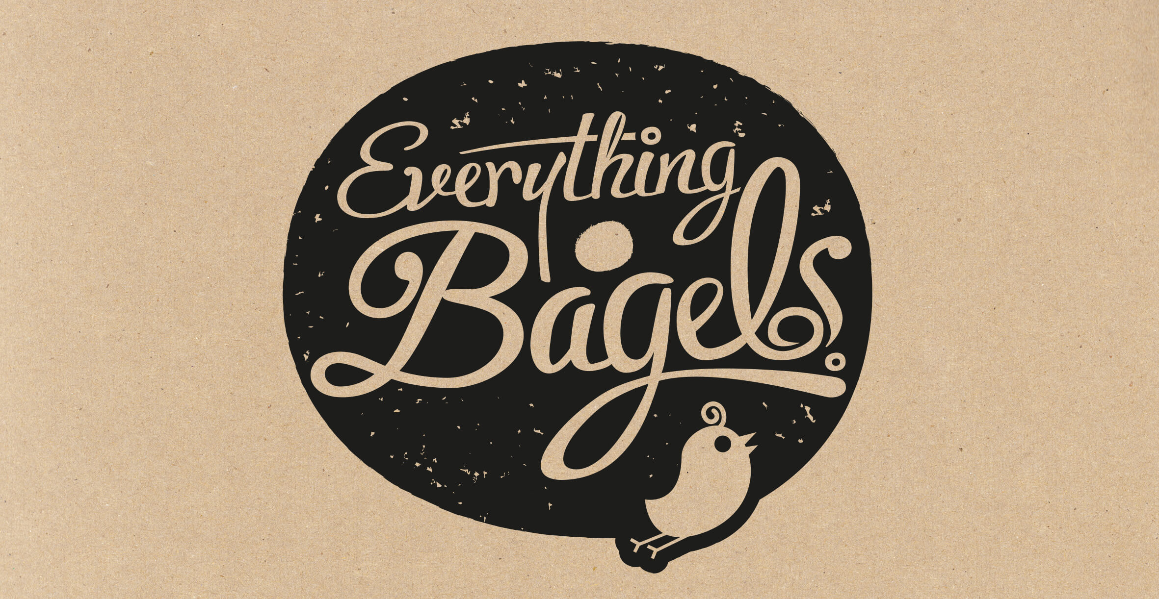 Food packaging design and brand identity for artisanal food brand Everything Bagels by Design Happy London - Logo design