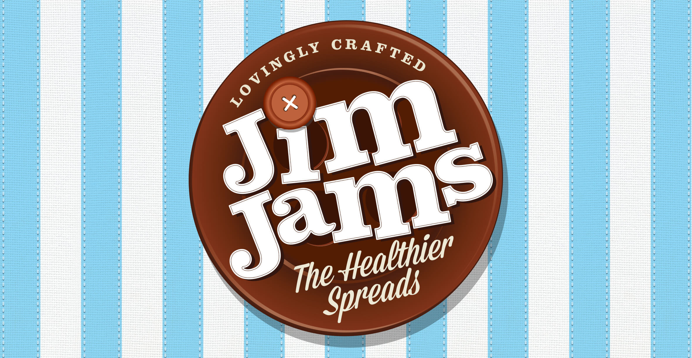 Food packaging design and brand identity for reduced sugar brand JimJams by Design Happy London - Logo