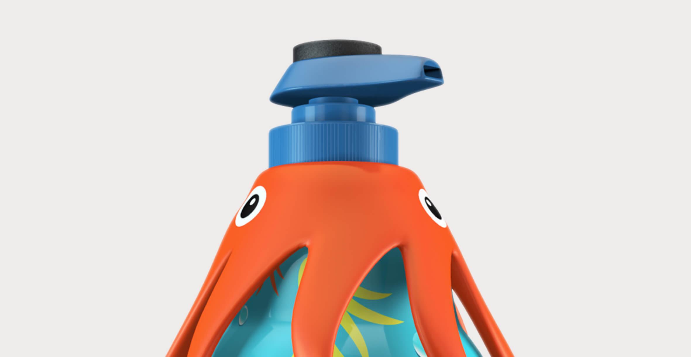 SquidSoap fun hand soap 3d render visual