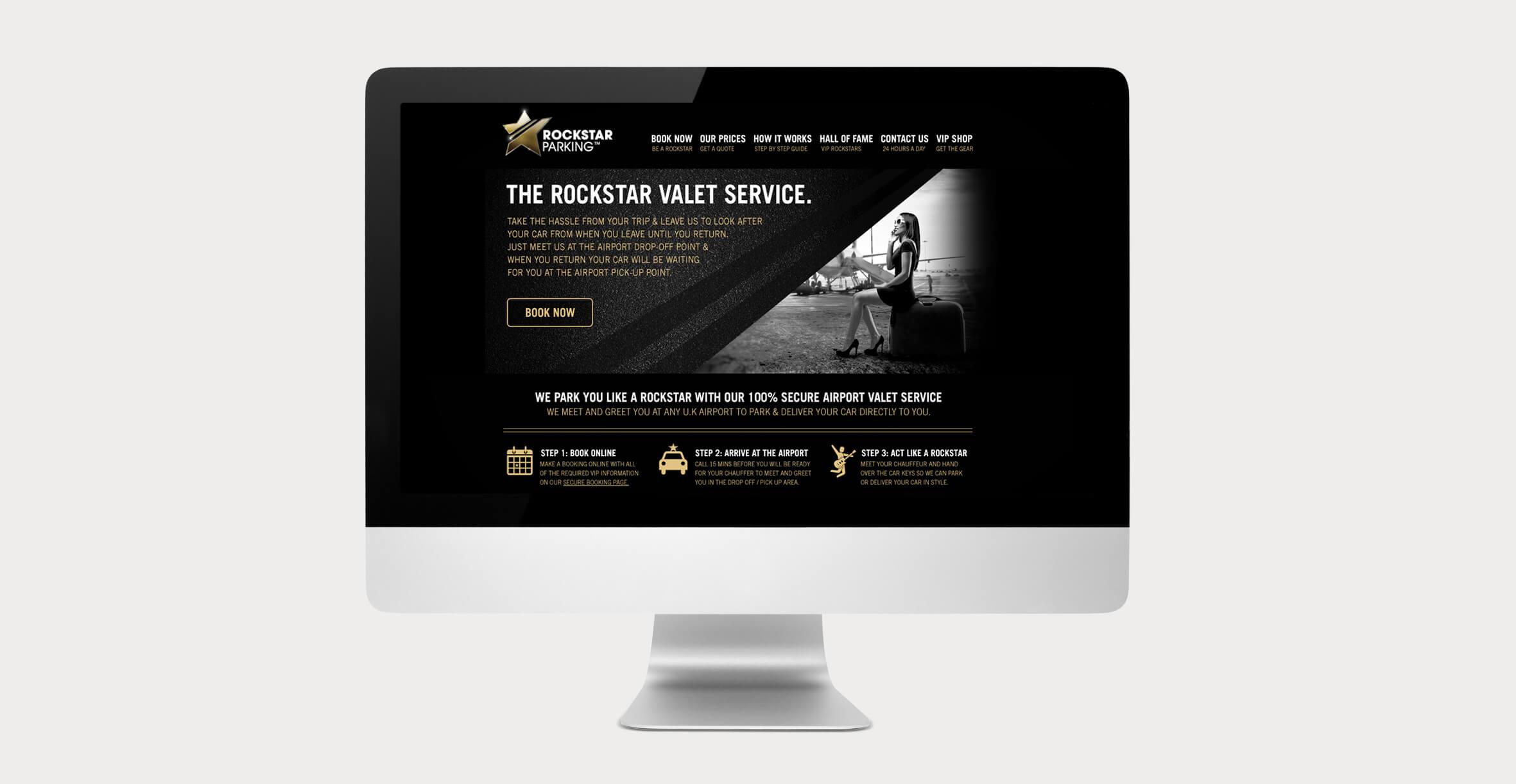 Rockstar Parking Band Identity - Website Design