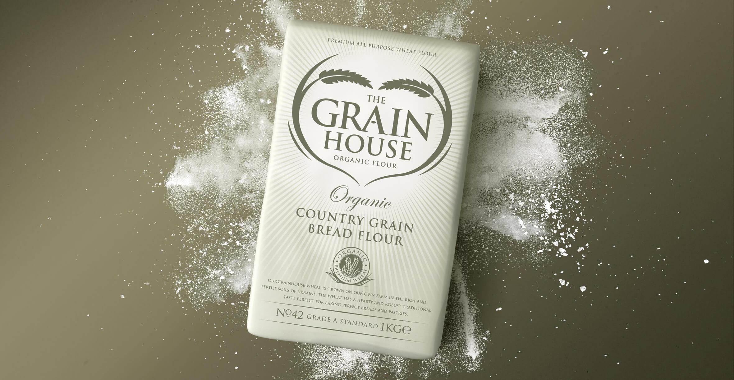 Premium Branding Design for Food Brand Grainhouse Flour - Render Design