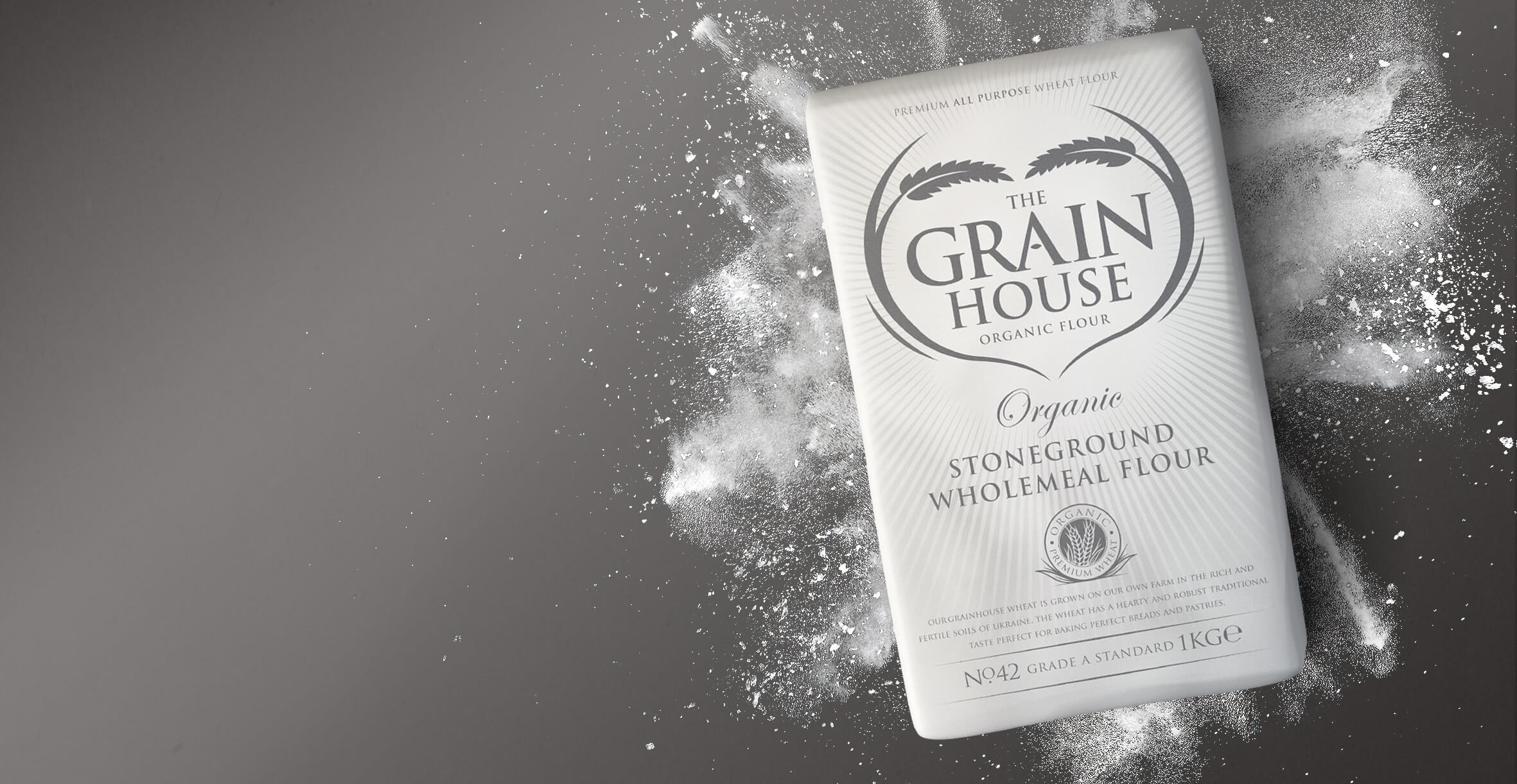 Premium Branding Design for Food Brand Grainhouse Flour - Product Shot