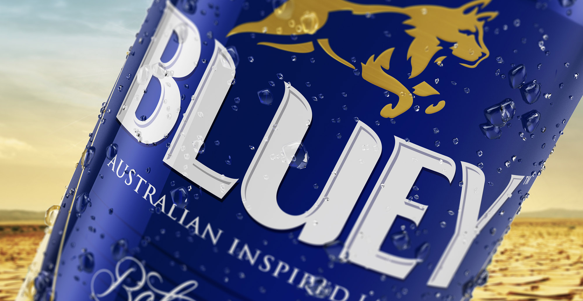 Brand Creation and Packaging Design for Australian Beer Brand Bluey Lager - Can Point of sale hero image