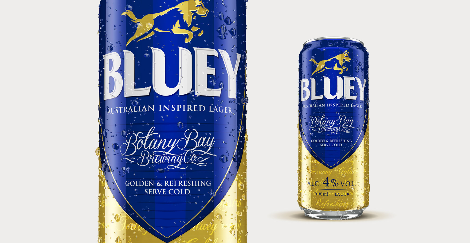 Brand Creation and Packaging Design for Australian Beer Brand Bluey Lager - 3D Can Render