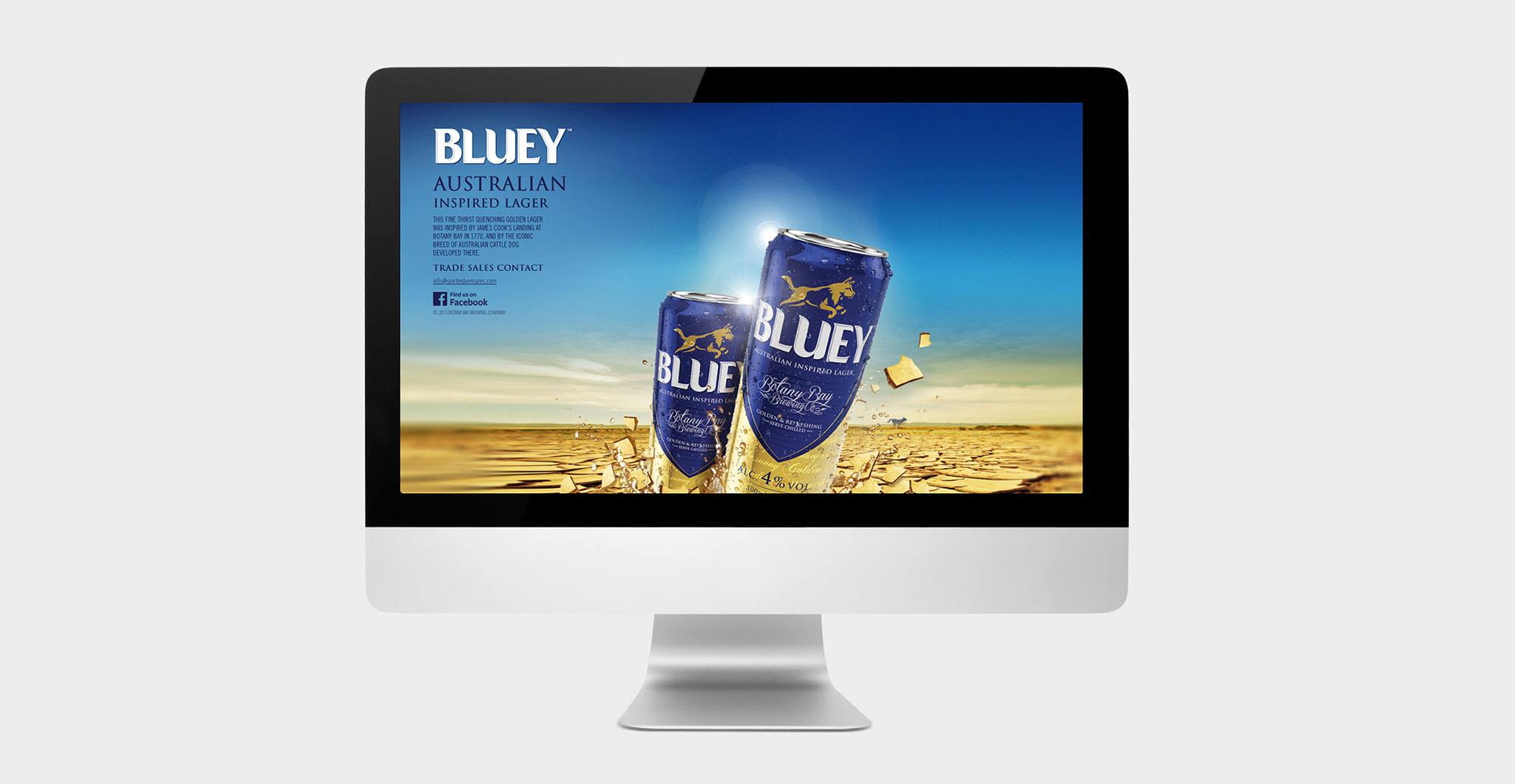 Brand Creation and Packaging Design for Australian Beer Brand Bluey Lager - Website
