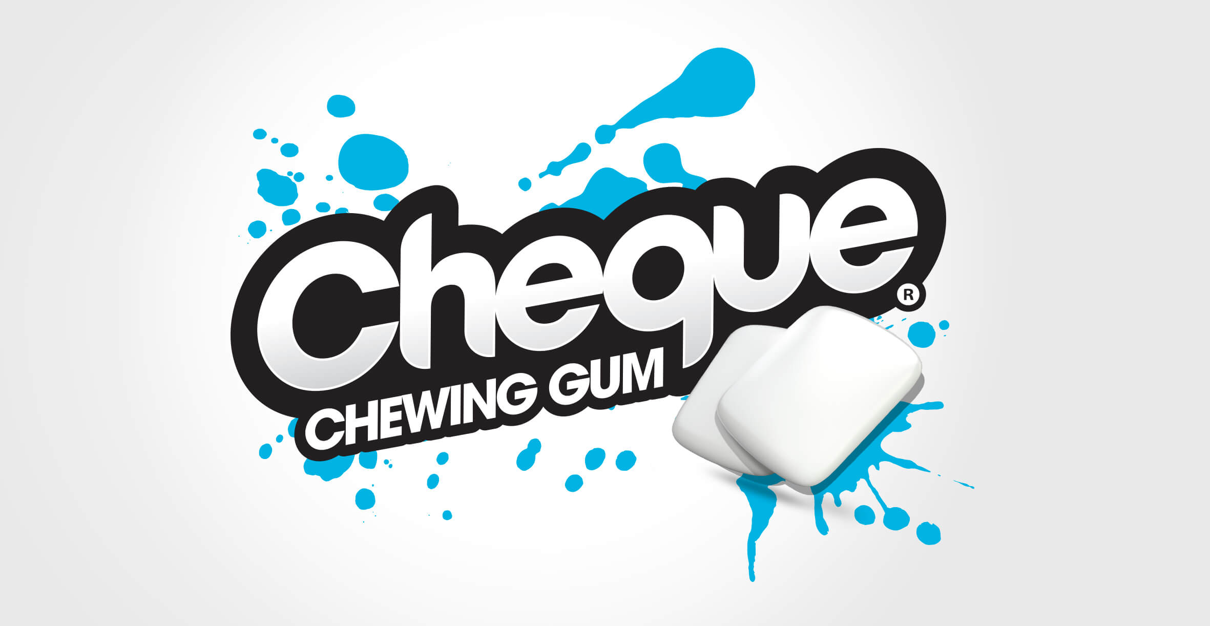 Branding and Packaging Design for Confectionary Brand Cheque Gum - Logo
