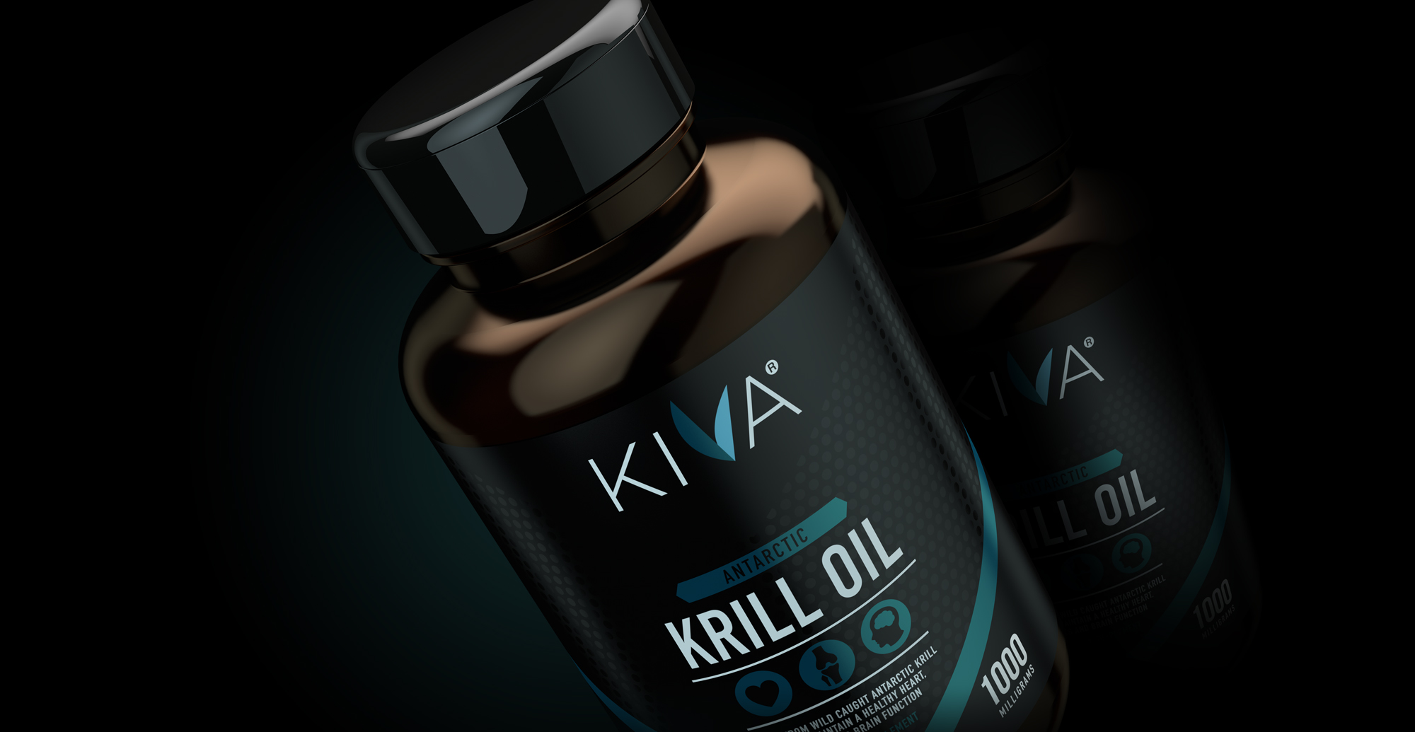 Kiva Health Branding and Packaging Design - blue render of pack