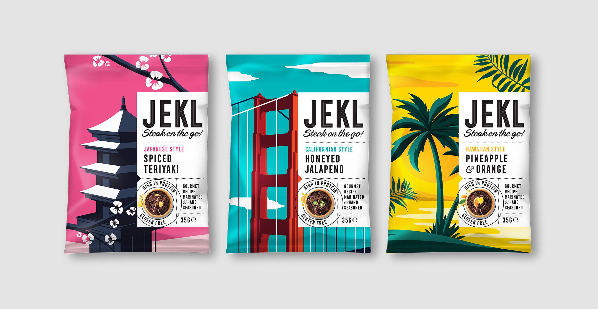 Branding and packaging design for Jekl - Range shot