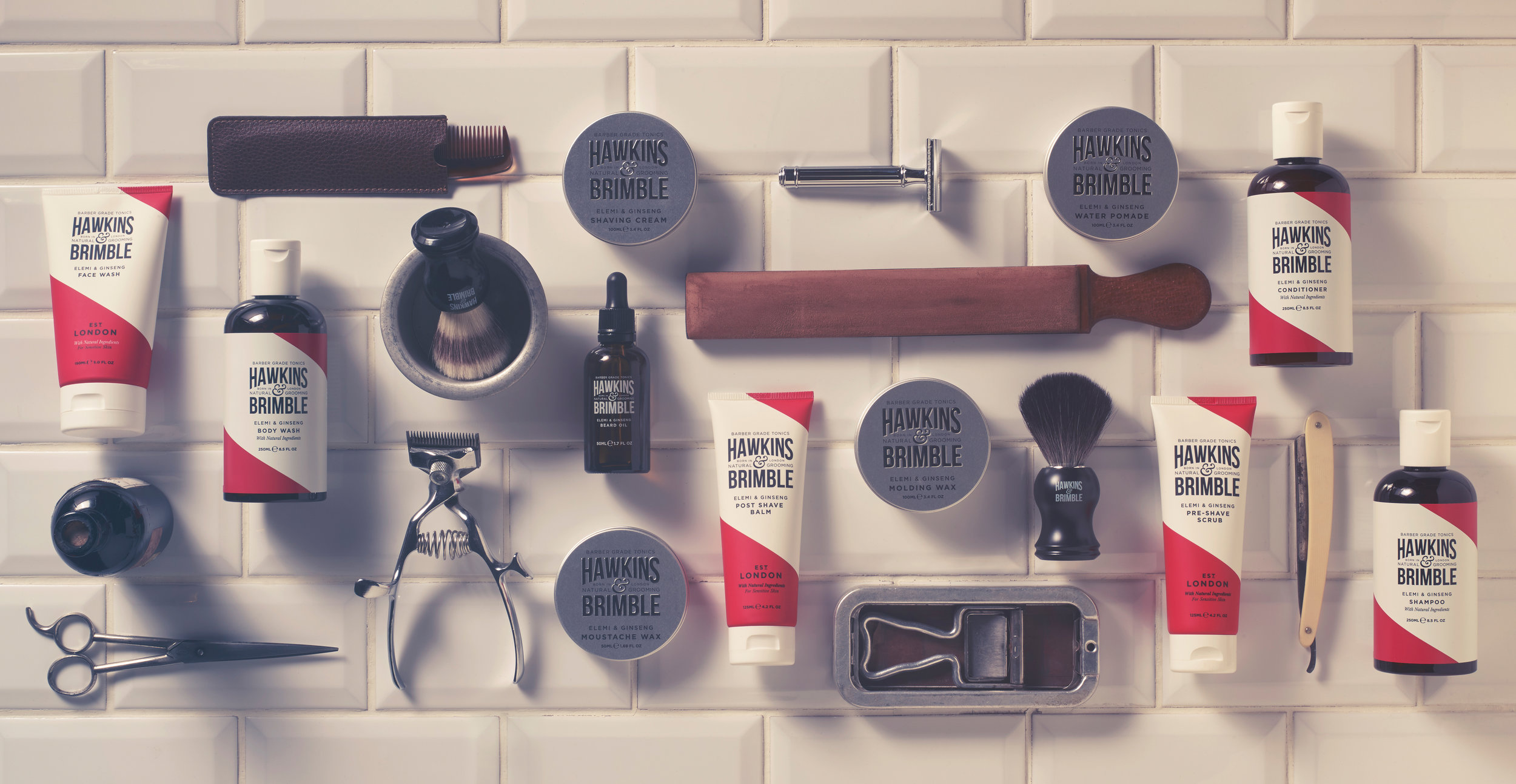 Launching a male grooming brand - Hawkins & Brimble Brand Creation by Design Happy