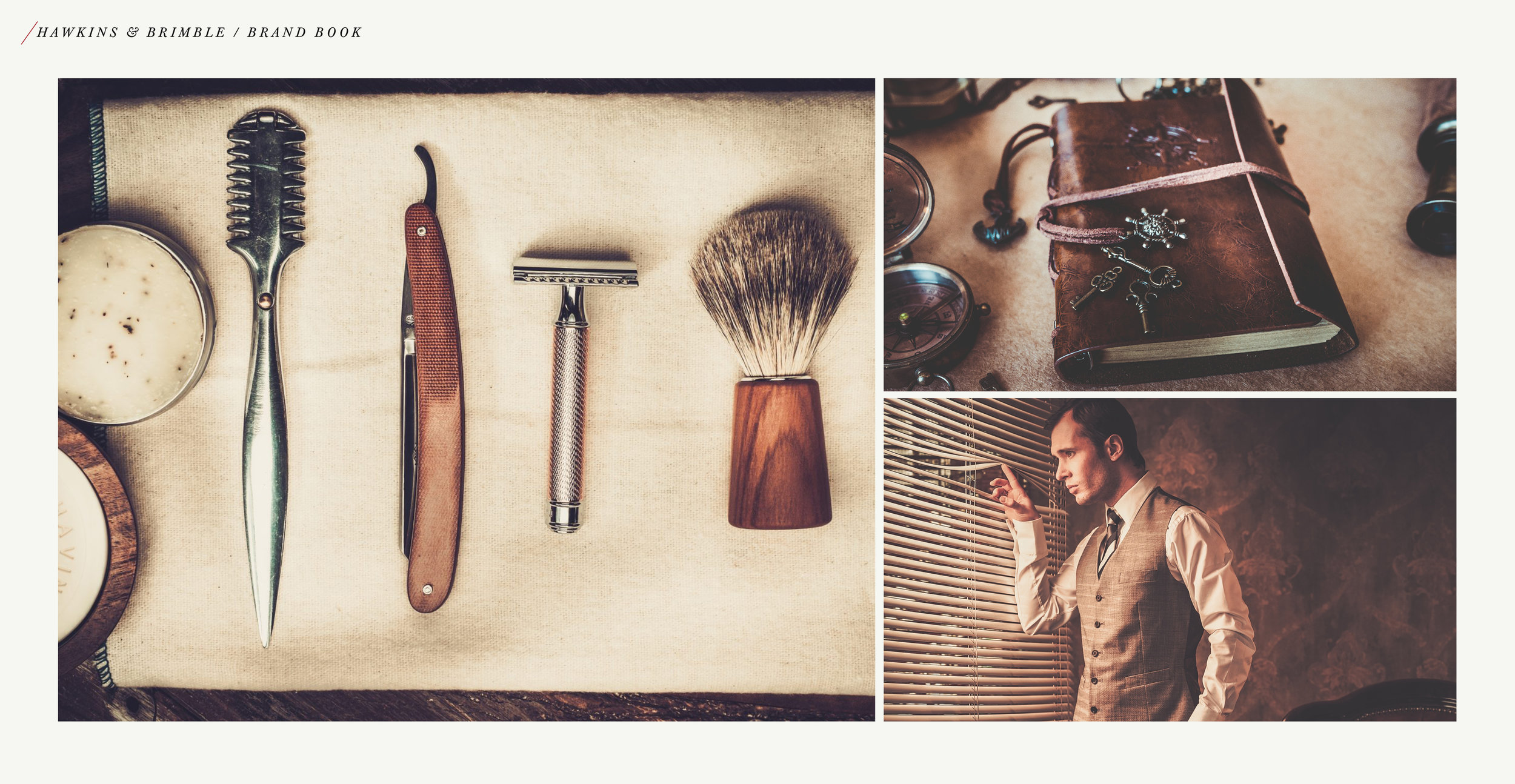 Launching a male grooming brand - brand book photography