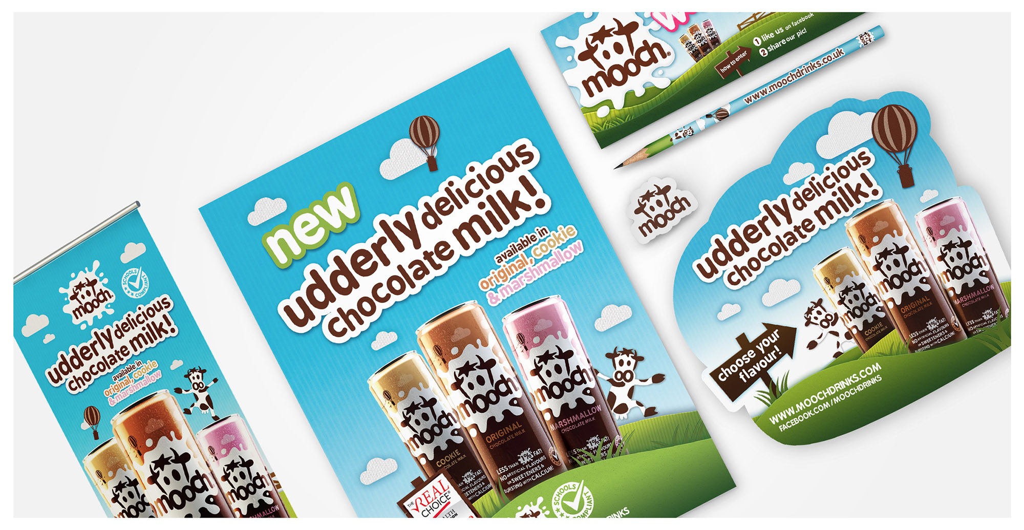 Branding and Packaging Design for Fun Children's Drink Brand Mooch - Website