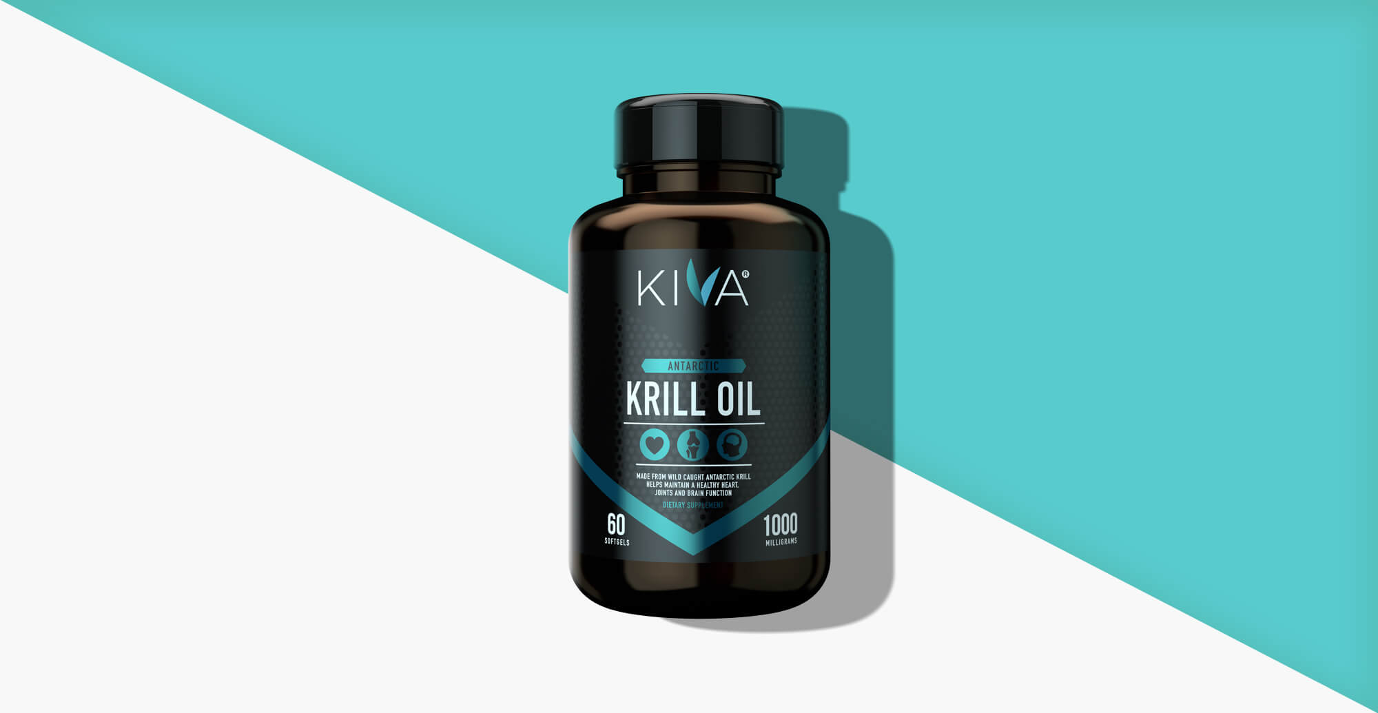 Kiva Health Branding and Packaging Design - turquoise render of pack
