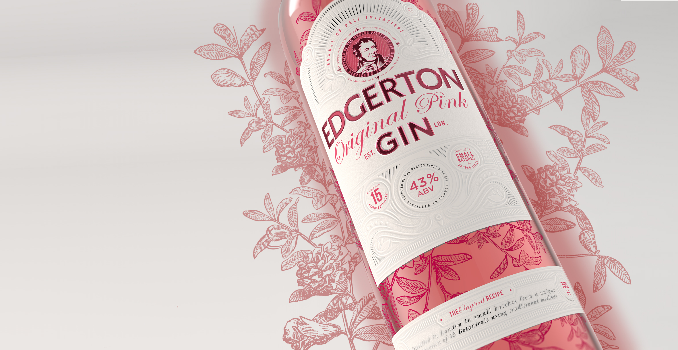 Brand identity and gin bottle label design for Edgerton Gin by Design Happy London - Gift box promotional packaging