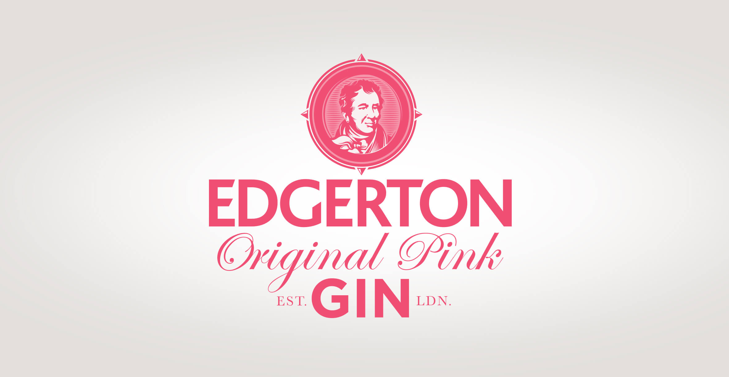 Brand identity and gin bottle label design for Edgerton Gin by Design Happy London - Branding and illustration